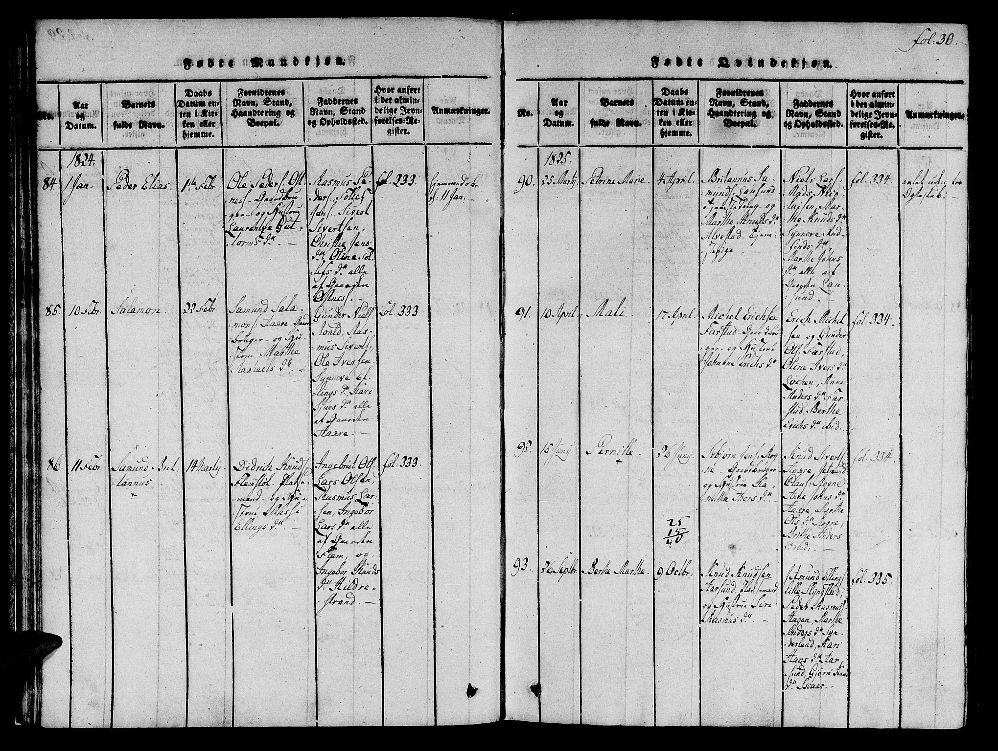 SAT, Ministerialprotokoller, klokkerbøker og fødselsregistre - Møre og Romsdal, 536/L0495: Ministerialbok nr. 536A04, 1818-1847, s. 30