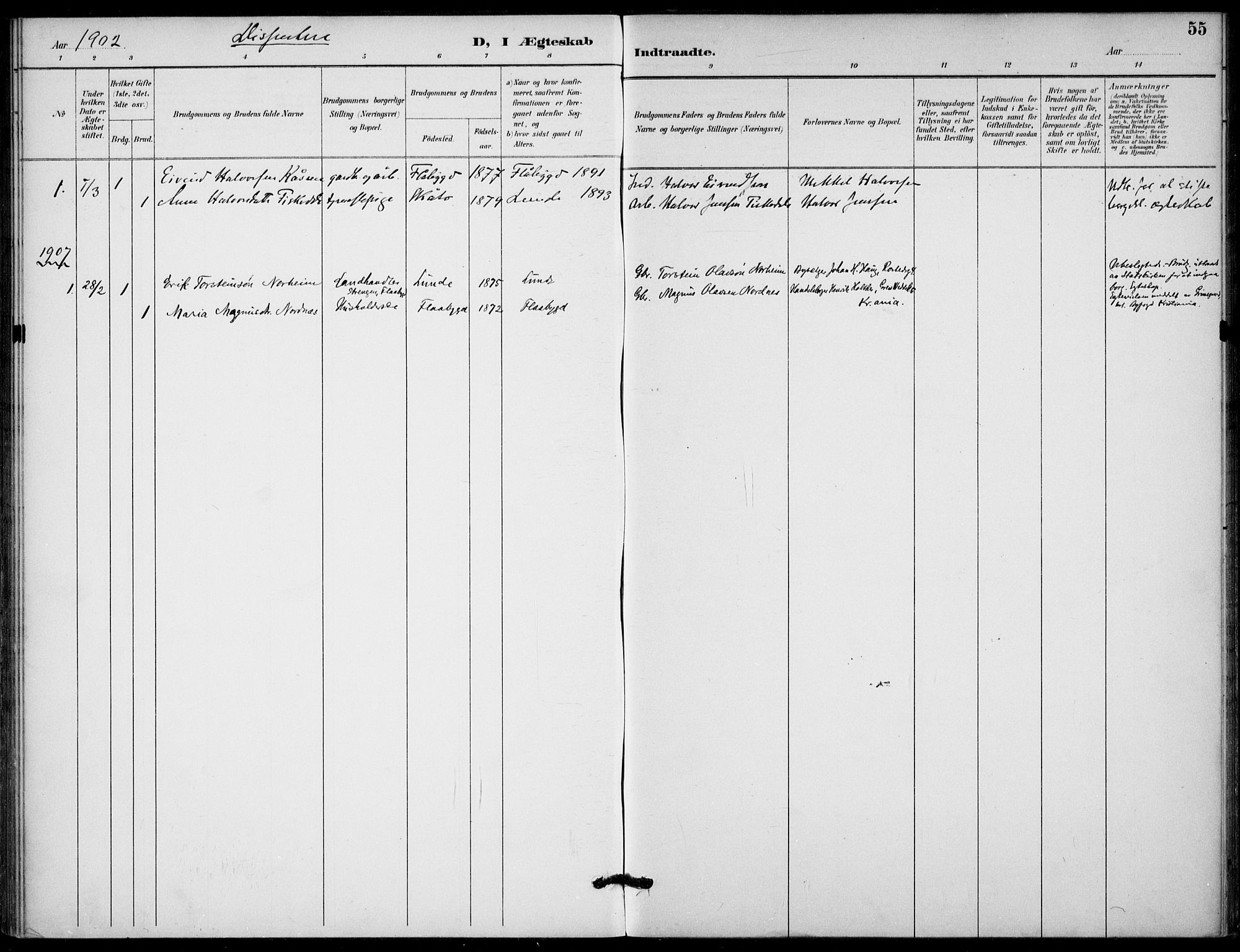 SAKO, Lunde kirkebøker, F/Fb/L0004: Ministerialbok nr. II 4, 1892-1907, s. 55