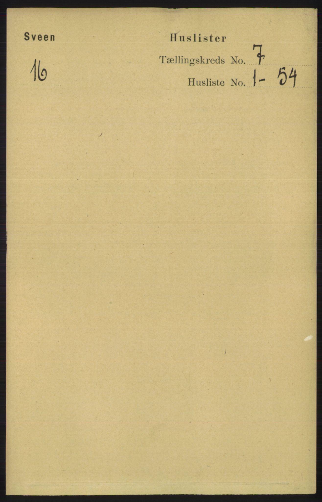 RA, Folketelling 1891 for 1216 Sveio herred, 1891, s. 1917