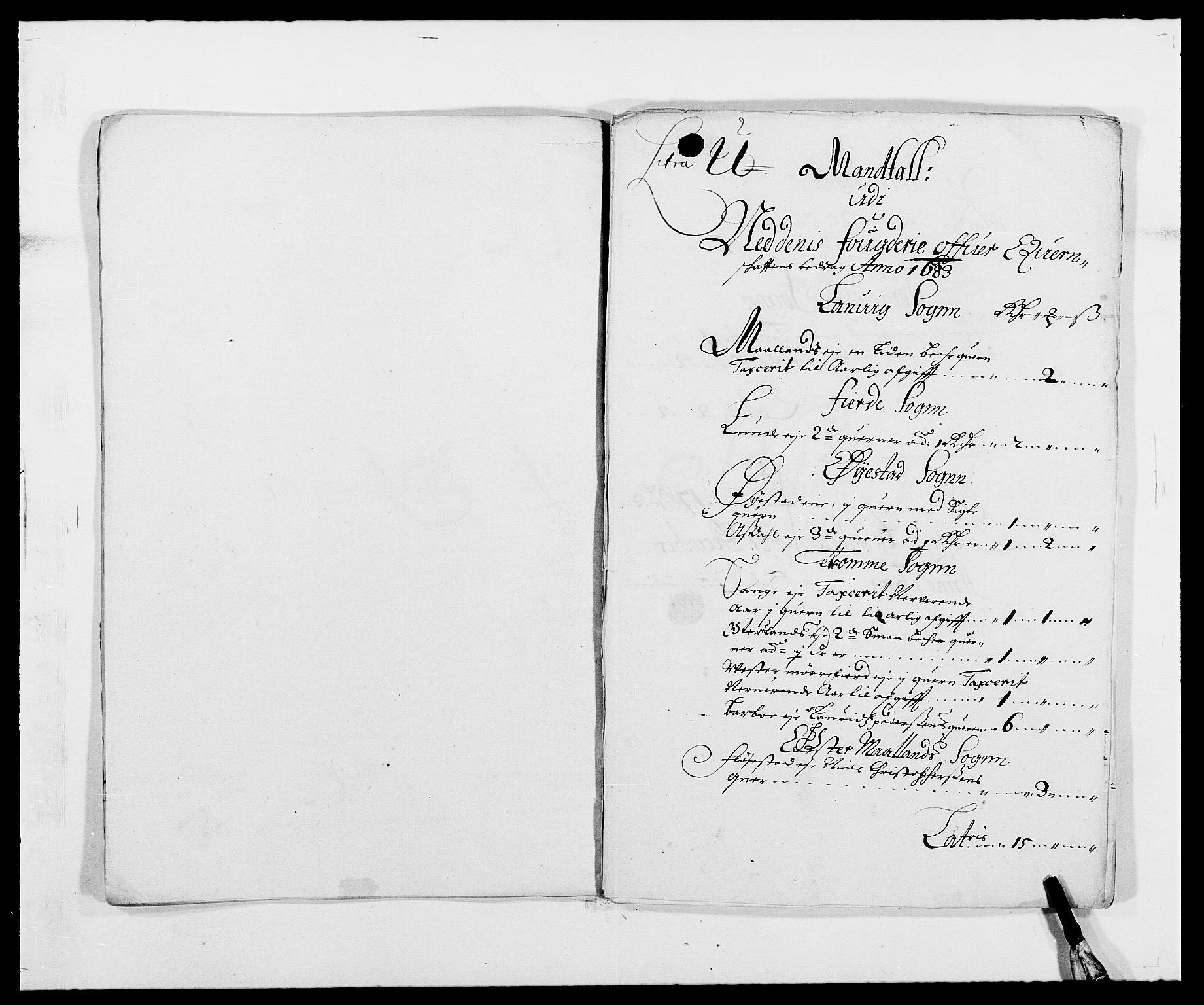 RA, Rentekammeret inntil 1814, Reviderte regnskaper, Fogderegnskap, R39/L2305: Fogderegnskap Nedenes, 1683, s. 81
