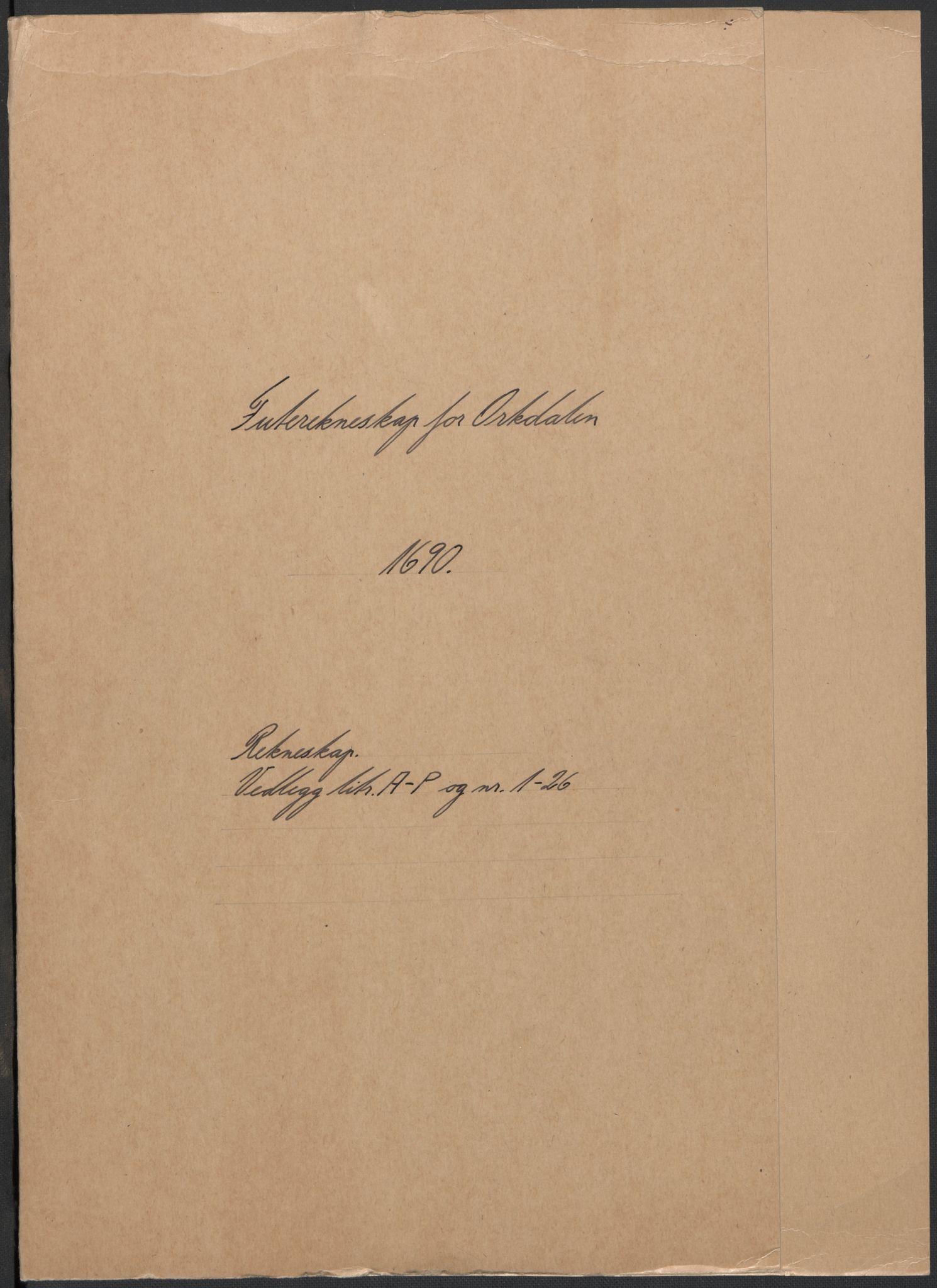 RA, Rentekammeret inntil 1814, Reviderte regnskaper, Fogderegnskap, R58/L3936: Fogderegnskap Orkdal, 1689-1690, s. 250