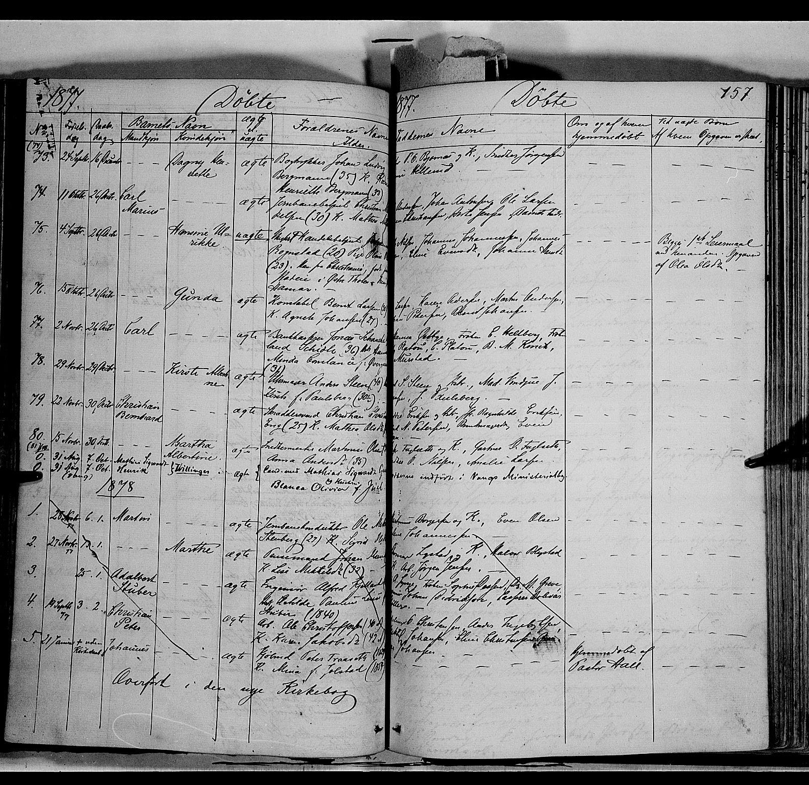 SAH, Vang prestekontor, Hedmark, H/Ha/Haa/L0011: Ministerialbok nr. 11, 1852-1877, s. 157