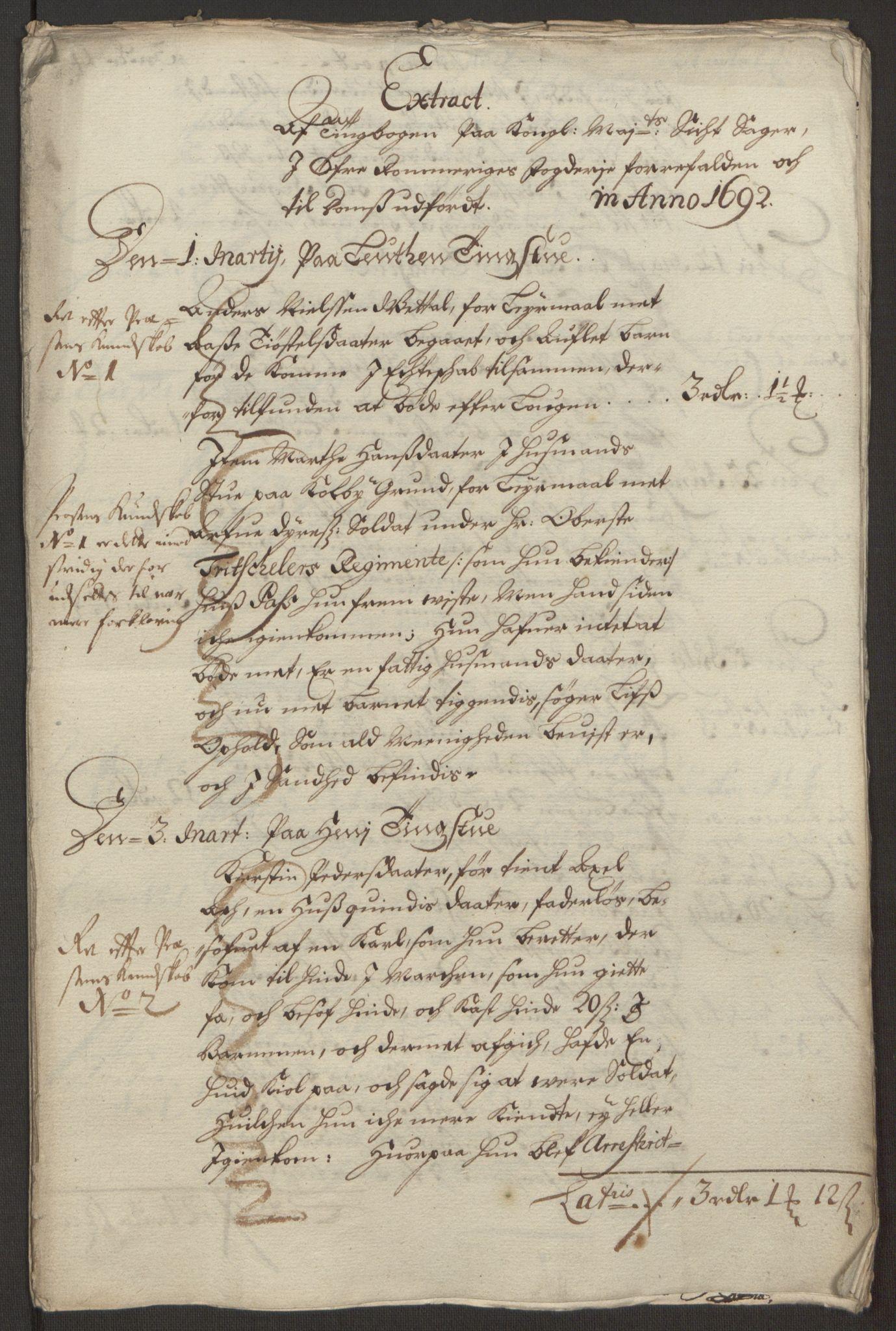 RA, Rentekammeret inntil 1814, Reviderte regnskaper, Fogderegnskap, R12/L0704: Fogderegnskap Øvre Romerike, 1692, s. 52