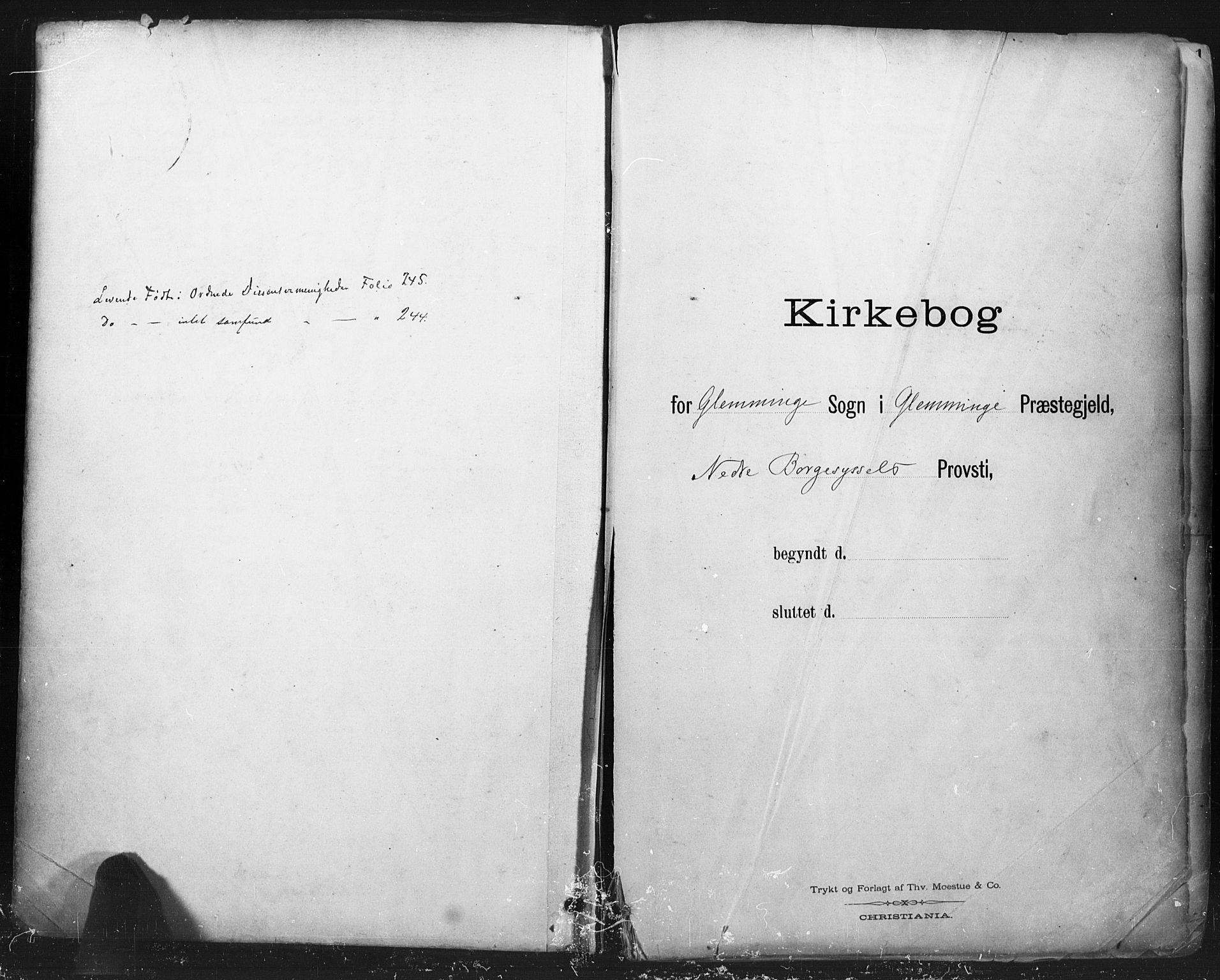 SAO, Glemmen prestekontor Kirkebøker, F/Fa/L0013: Ministerialbok nr. 13, 1892-1907