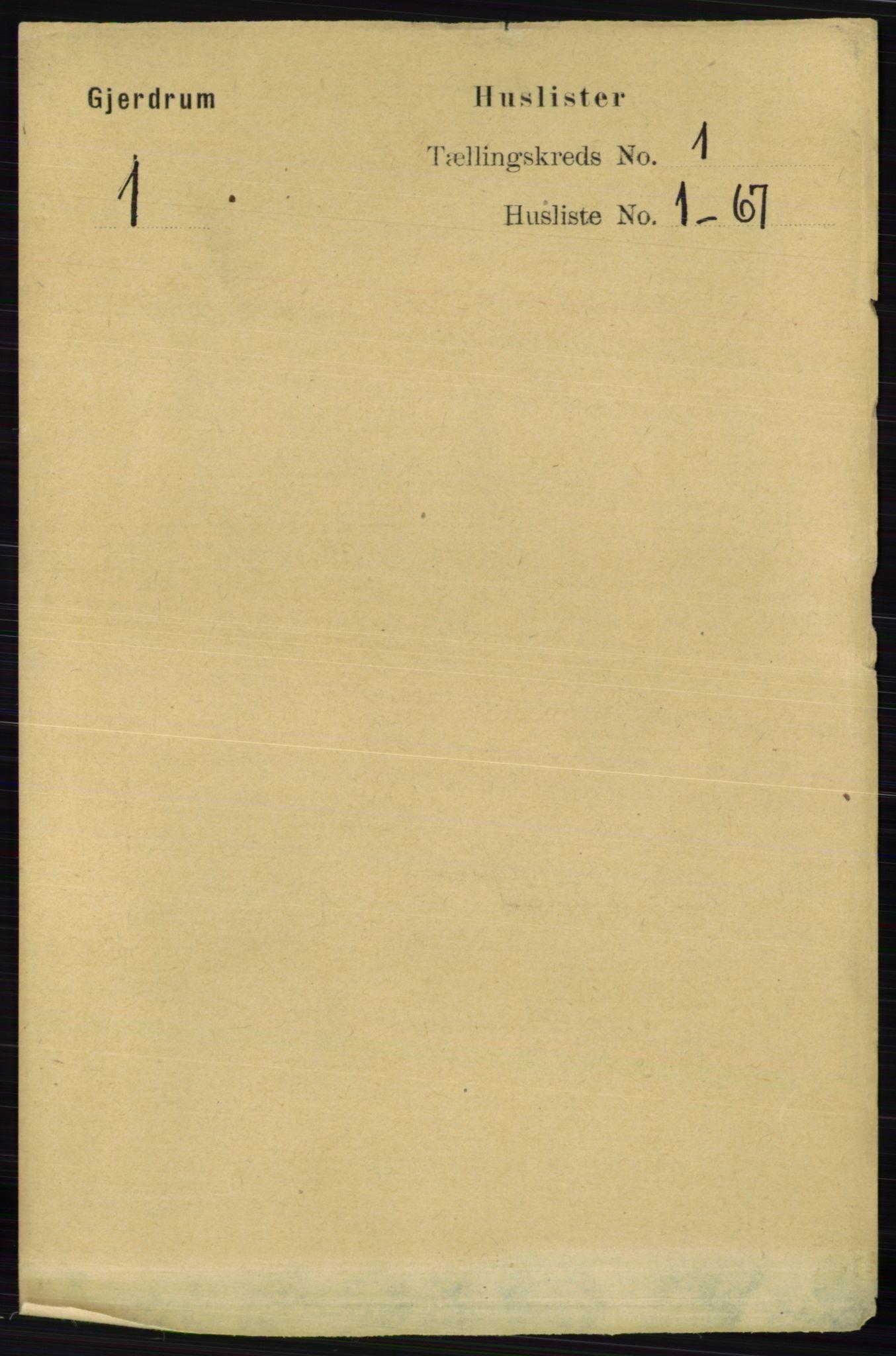 RA, Folketelling 1891 for 0234 Gjerdrum herred, 1891, s. 17