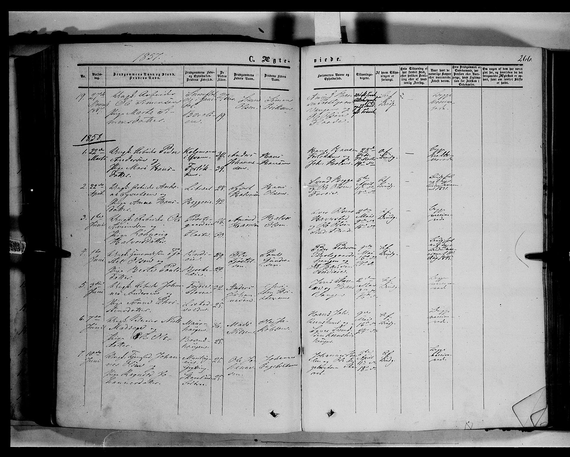 SAH, Sør-Fron prestekontor, H/Ha/Haa/L0001: Ministerialbok nr. 1, 1849-1863, s. 266