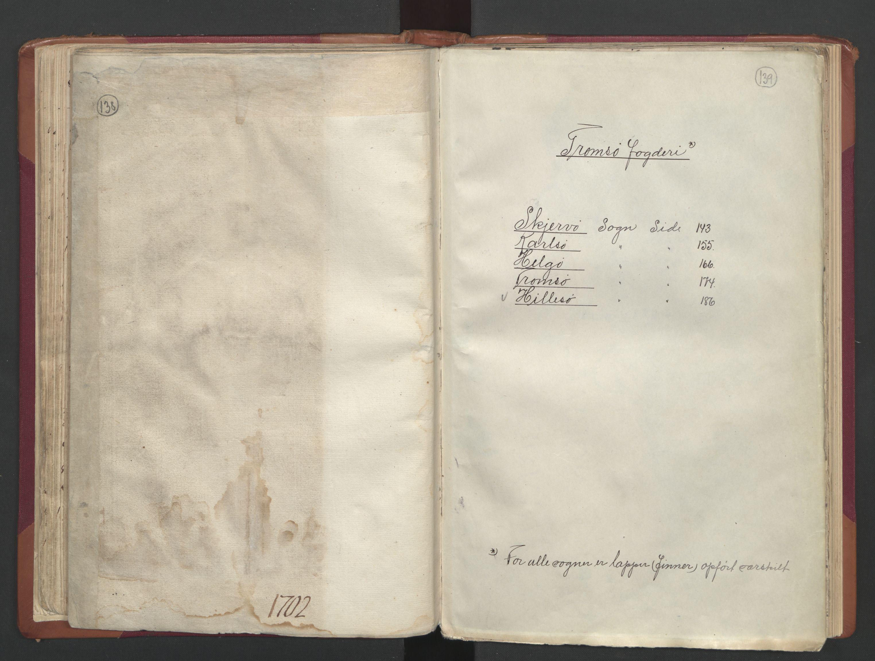 RA, Manntallet 1701, nr. 19: Senja og Tromsø fogderi, 1701, s. 138-139