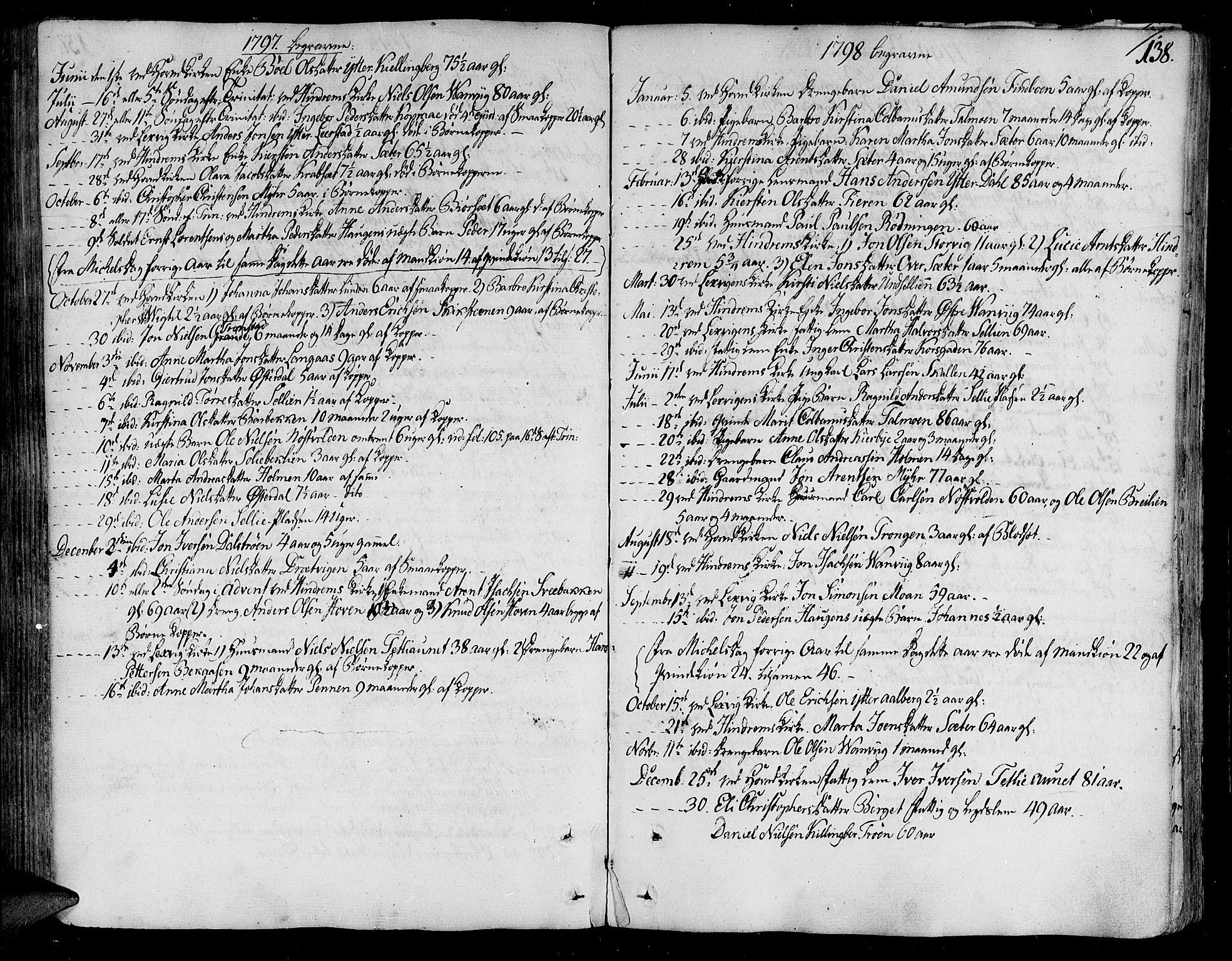 SAT, Ministerialprotokoller, klokkerbøker og fødselsregistre - Nord-Trøndelag, 701/L0004: Ministerialbok nr. 701A04, 1783-1816, s. 138