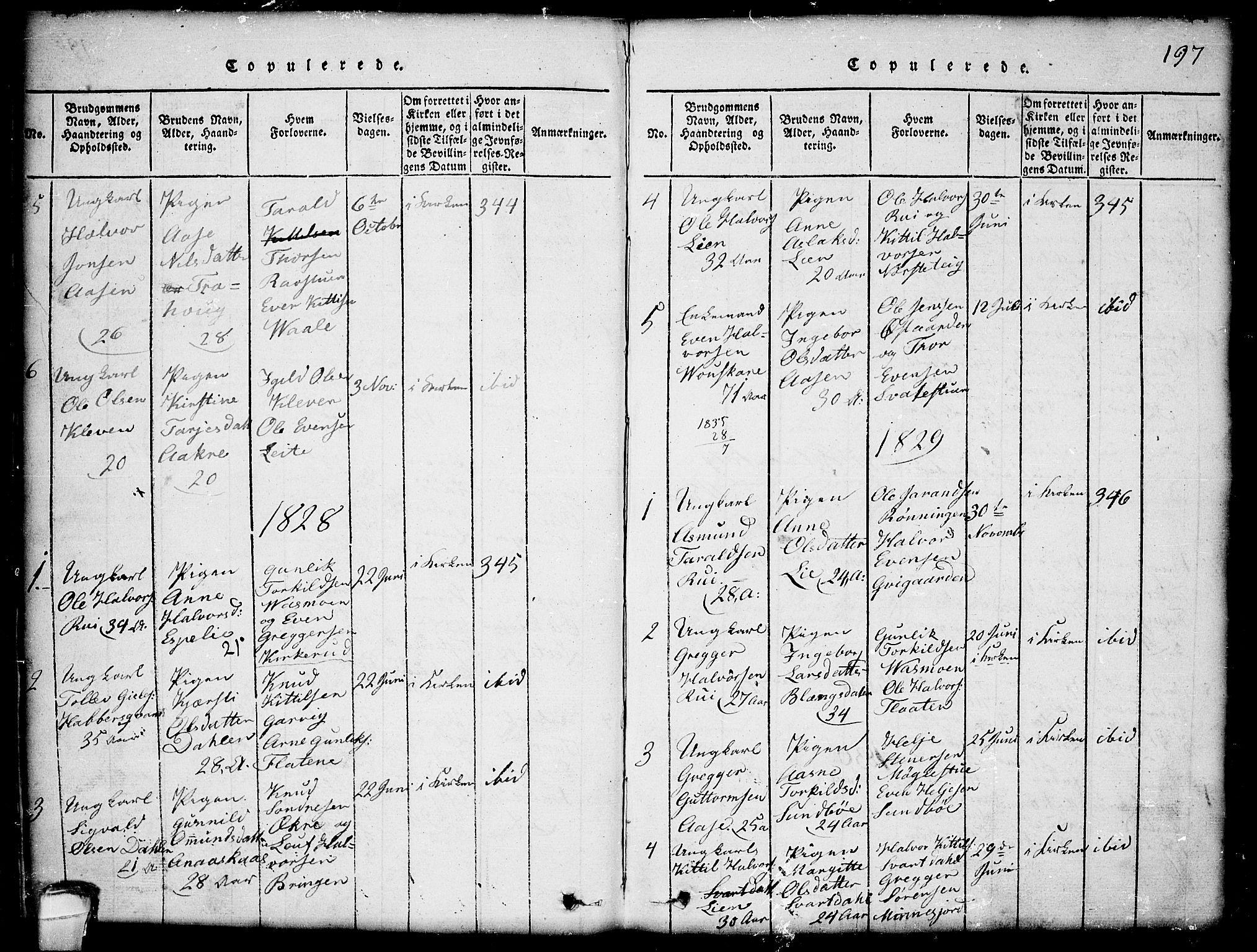 SAKO, Seljord kirkebøker, G/Gb/L0002: Klokkerbok nr. II 2, 1815-1854, s. 197