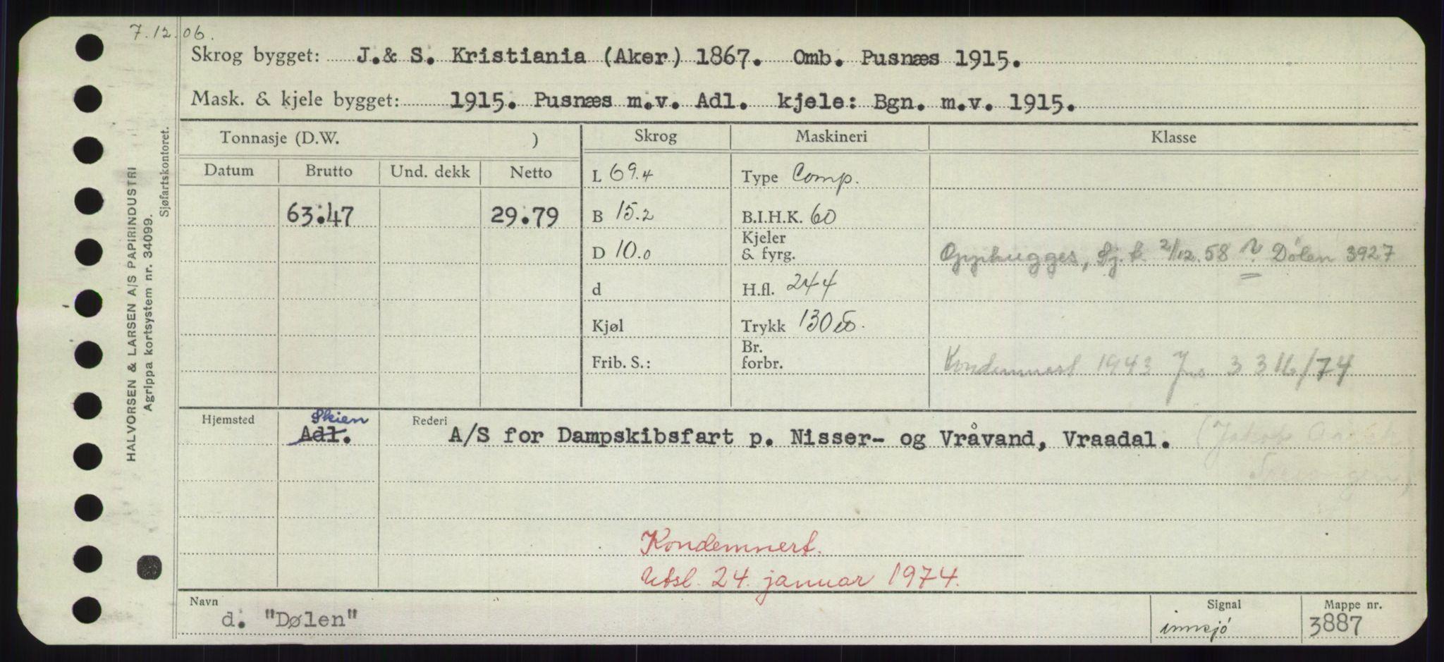 RA, Sjøfartsdirektoratet med forløpere, Skipsmålingen, H/Hd/L0008: Fartøy, C-D, s. 759