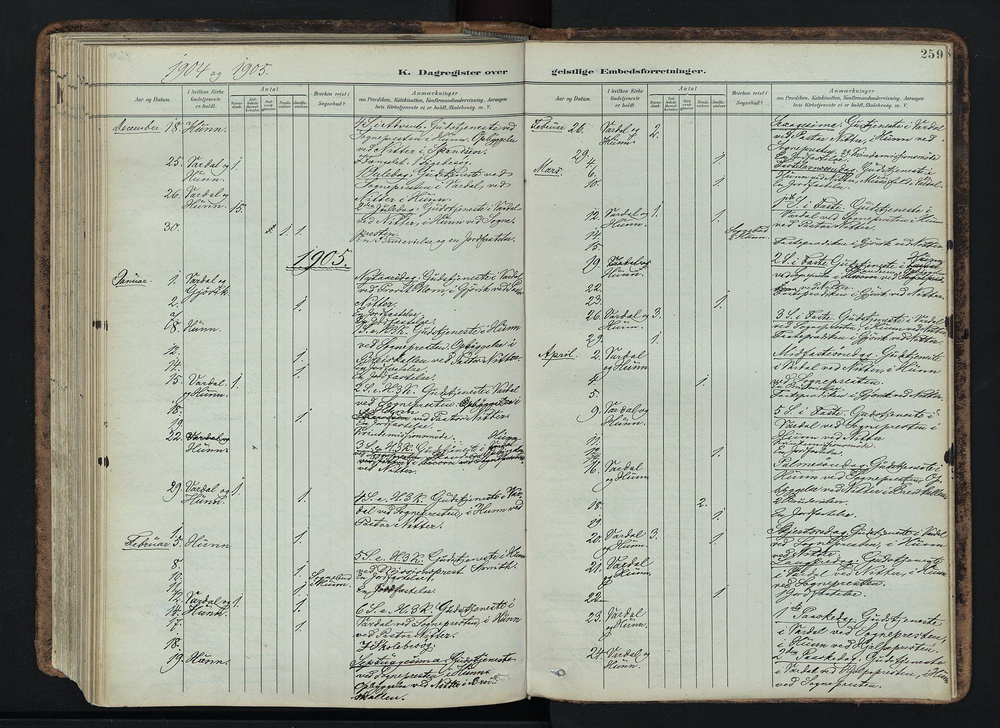 SAH, Vardal prestekontor, H/Ha/Haa/L0019: Ministerialbok nr. 19, 1893-1907, s. 259