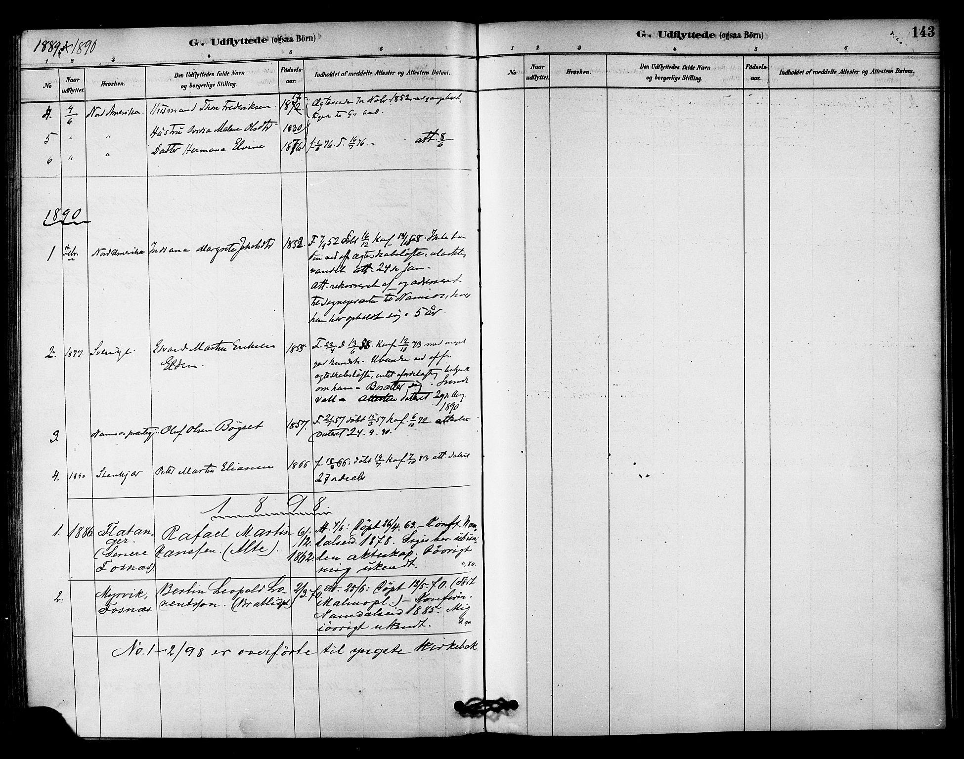 SAT, Ministerialprotokoller, klokkerbøker og fødselsregistre - Nord-Trøndelag, 742/L0408: Ministerialbok nr. 742A01, 1878-1890, s. 143