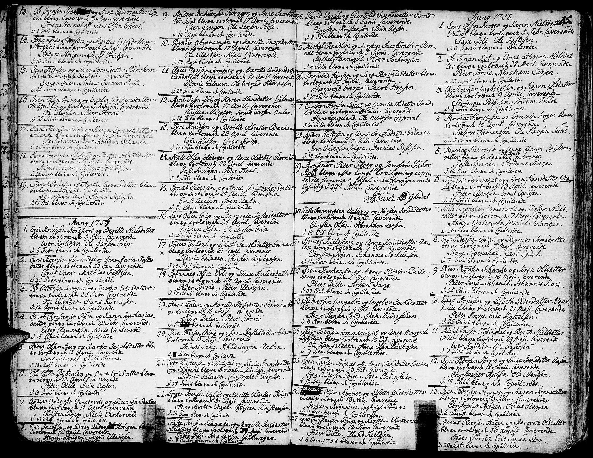 SAT, Ministerialprotokoller, klokkerbøker og fødselsregistre - Sør-Trøndelag, 681/L0925: Ministerialbok nr. 681A03, 1727-1766, s. 15
