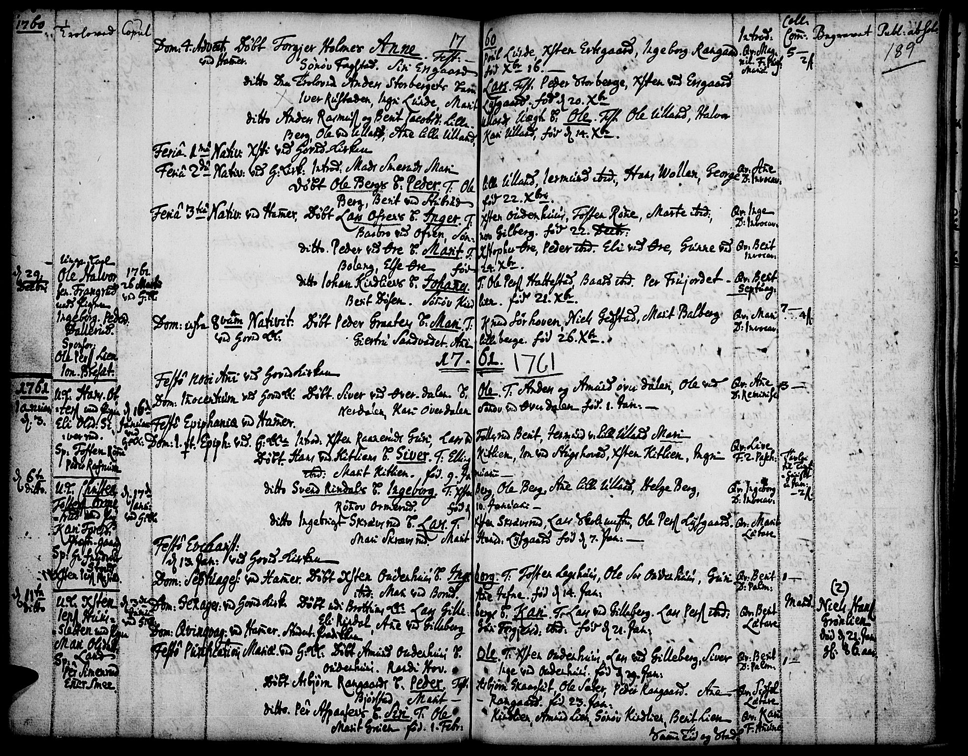 SAH, Fåberg prestekontor, Ministerialbok nr. 1, 1727-1775, s. 189