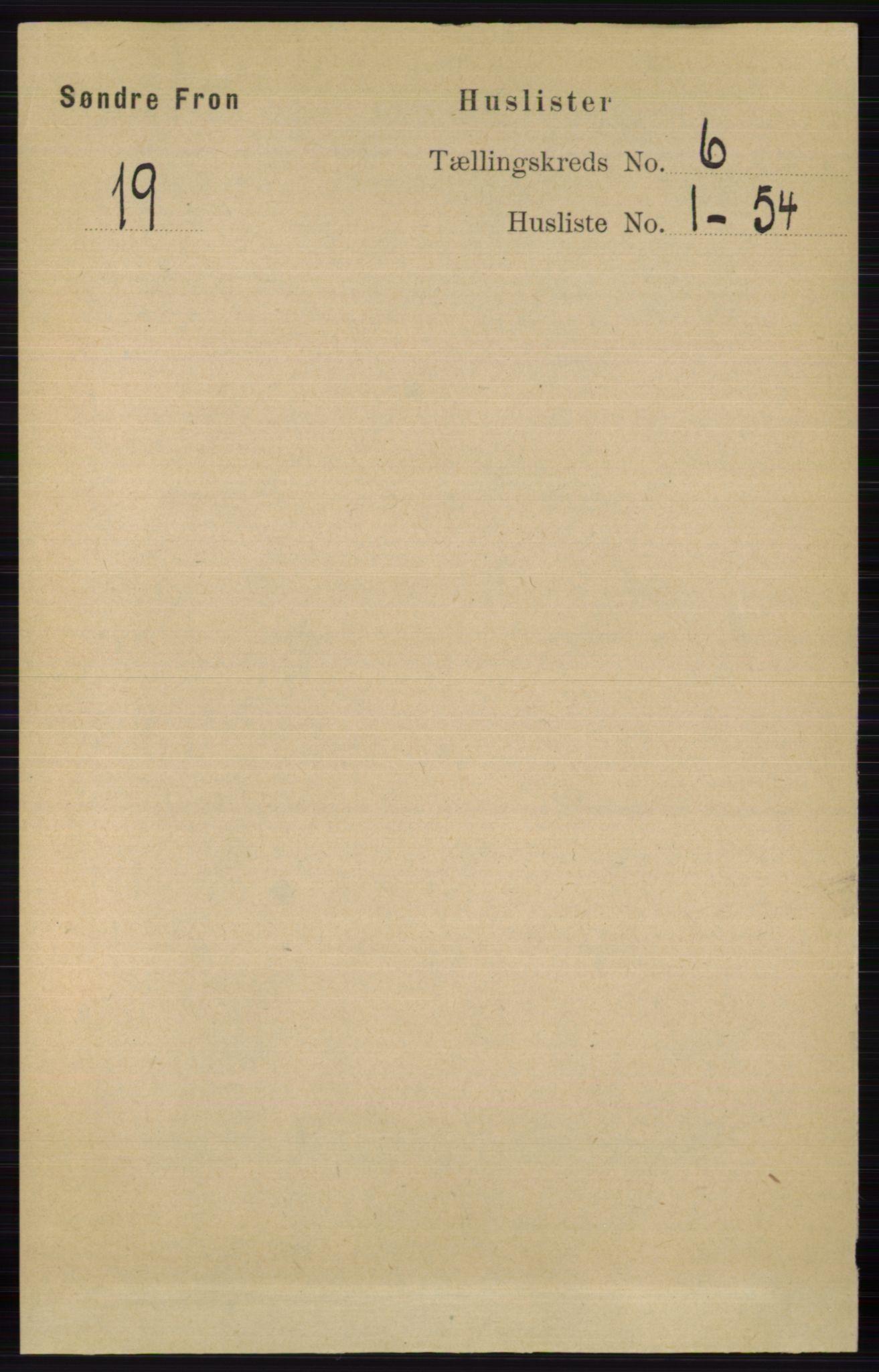 RA, Folketelling 1891 for 0519 Sør-Fron herred, 1891, s. 2520