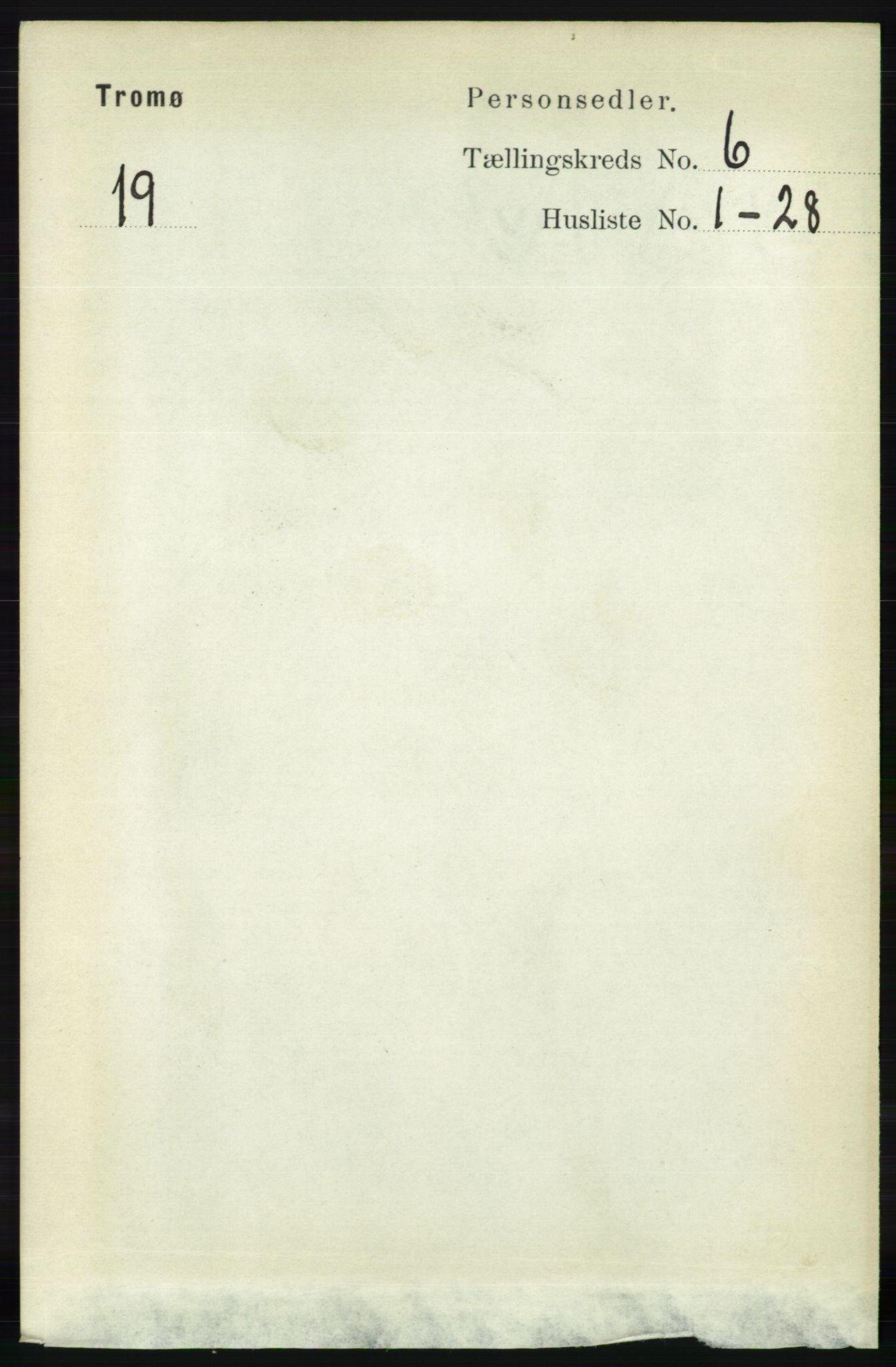 RA, Folketelling 1891 for 0921 Tromøy herred, 1891, s. 2865