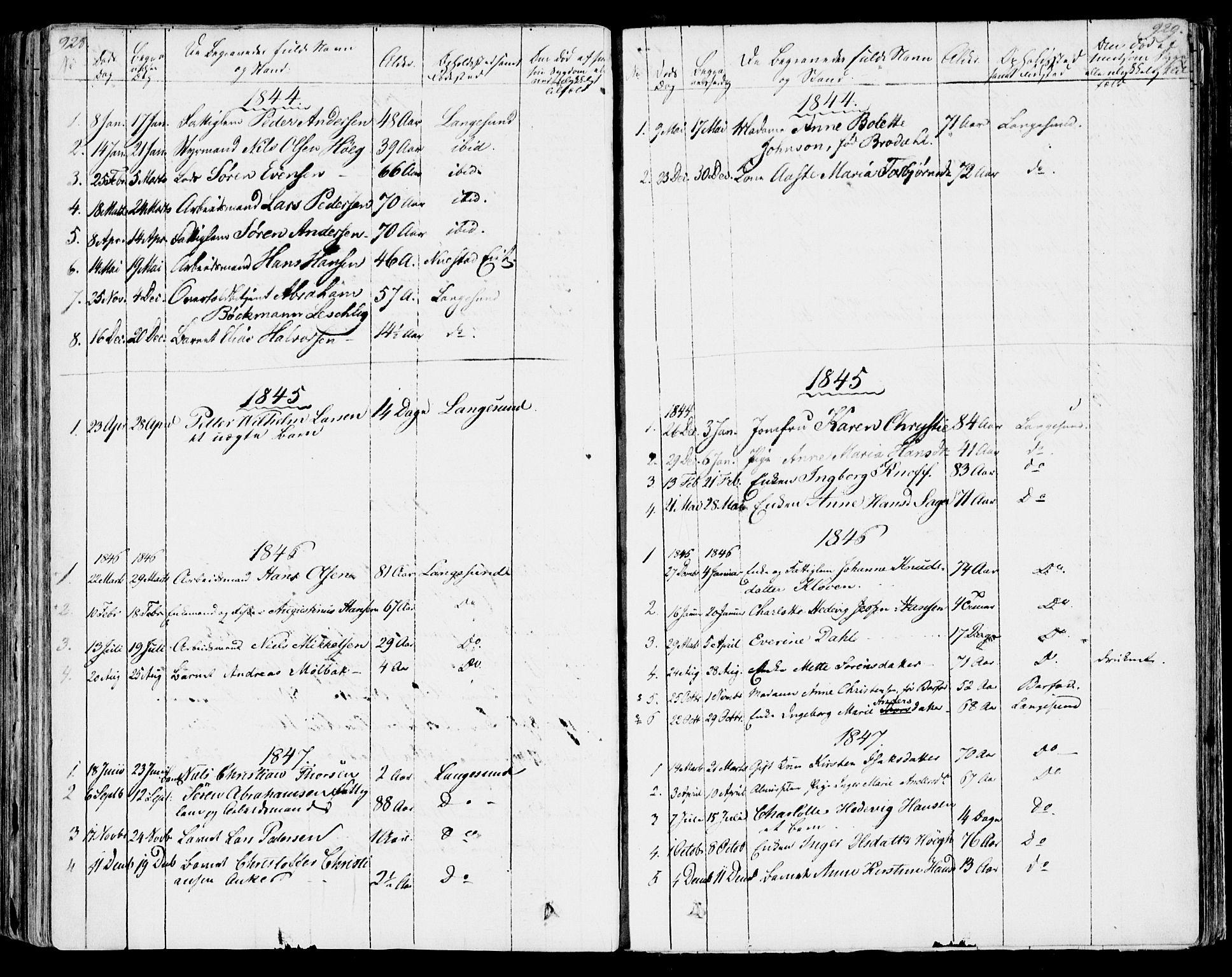 SAKO, Bamble kirkebøker, F/Fa/L0004: Ministerialbok nr. I 4, 1834-1853, s. 928-929