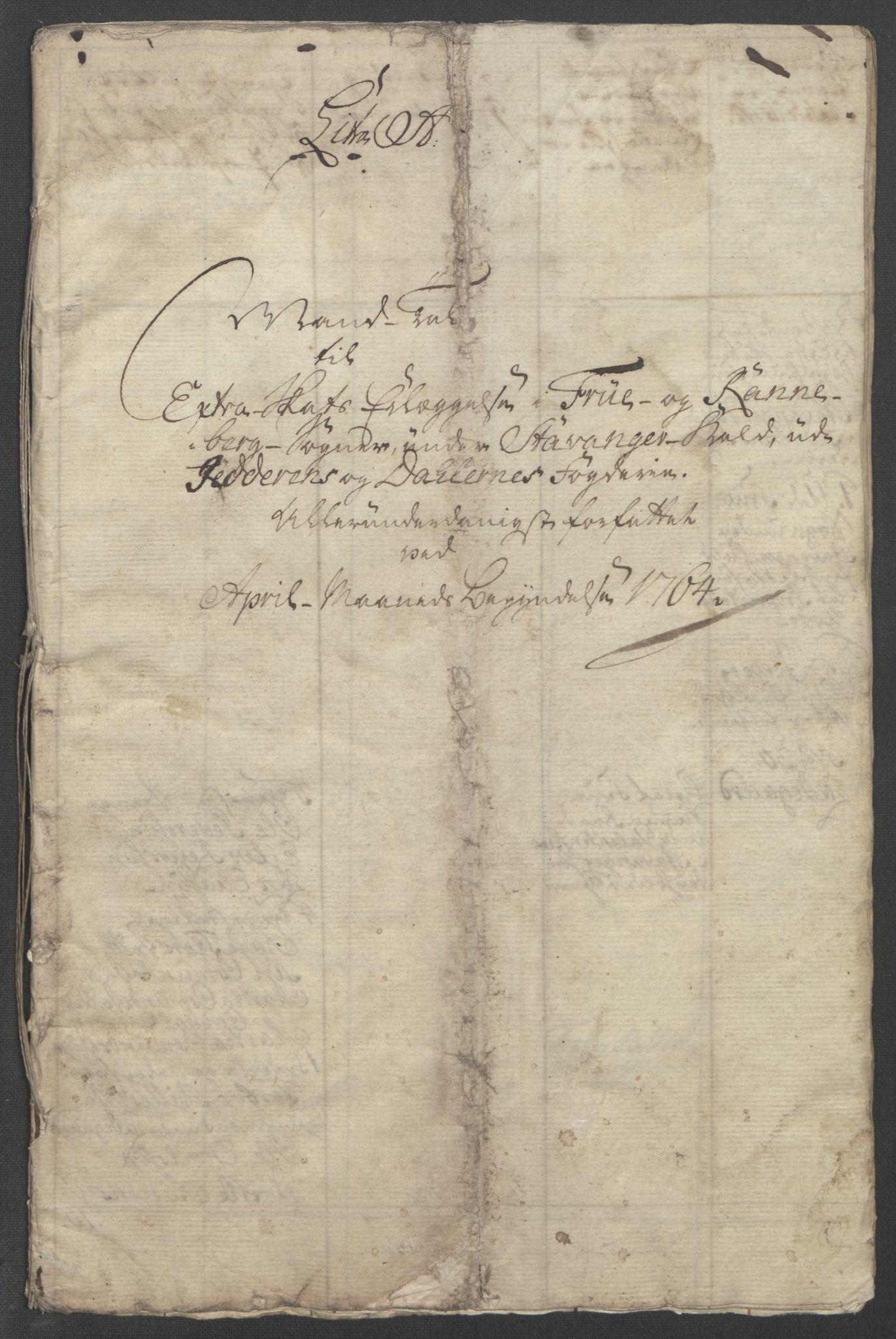 RA, Rentekammeret inntil 1814, Reviderte regnskaper, Fogderegnskap, R46/L2835: Ekstraskatten Jæren og Dalane, 1762-1764, s. 155
