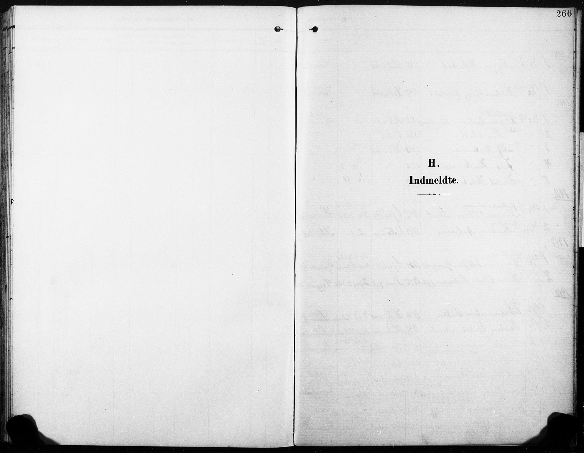 SAKO, Sandsvær kirkebøker, G/Gd/L0004a: Klokkerbok nr. IV 4A, 1901-1932, s. 266