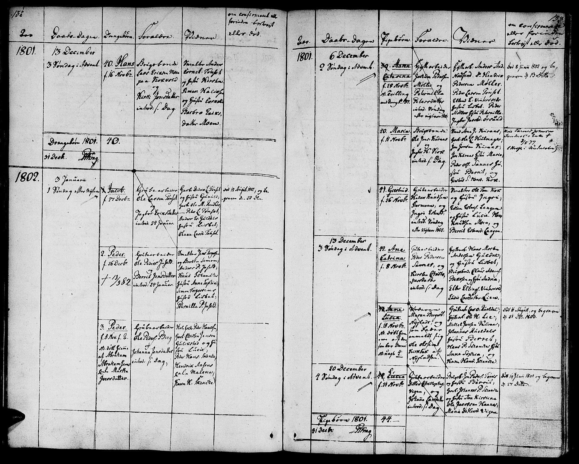 SAT, Ministerialprotokoller, klokkerbøker og fødselsregistre - Sør-Trøndelag, 681/L0927: Ministerialbok nr. 681A05, 1798-1808, s. 132-133