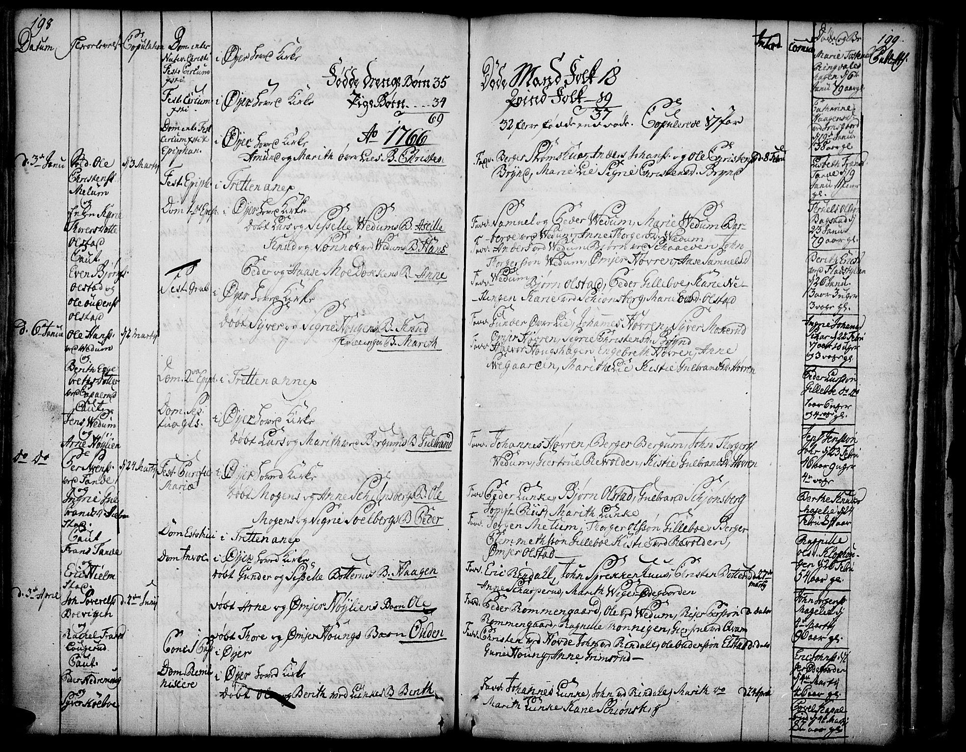 SAH, Øyer prestekontor, Ministerialbok nr. 2, 1733-1784, s. 198-199
