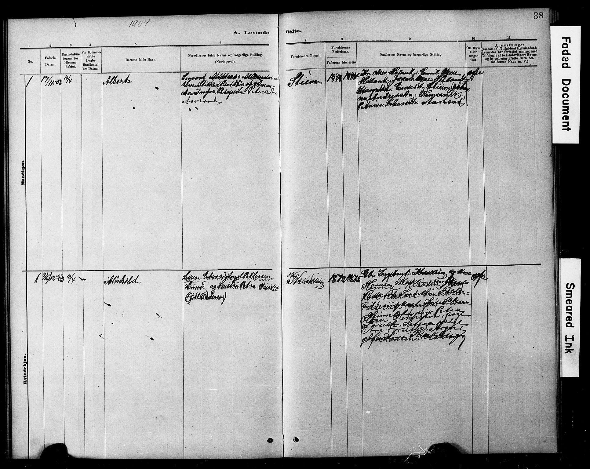 SAT, Ministerialprotokoller, klokkerbøker og fødselsregistre - Nord-Trøndelag, 783/L0661: Klokkerbok nr. 783C01, 1878-1893, s. 38