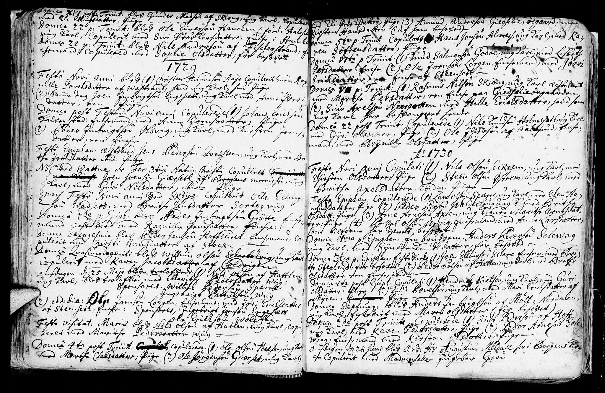 SAT, Ministerialprotokoller, klokkerbøker og fødselsregistre - Møre og Romsdal, 528/L0390: Ministerialbok nr. 528A01, 1698-1739, s. 110-111