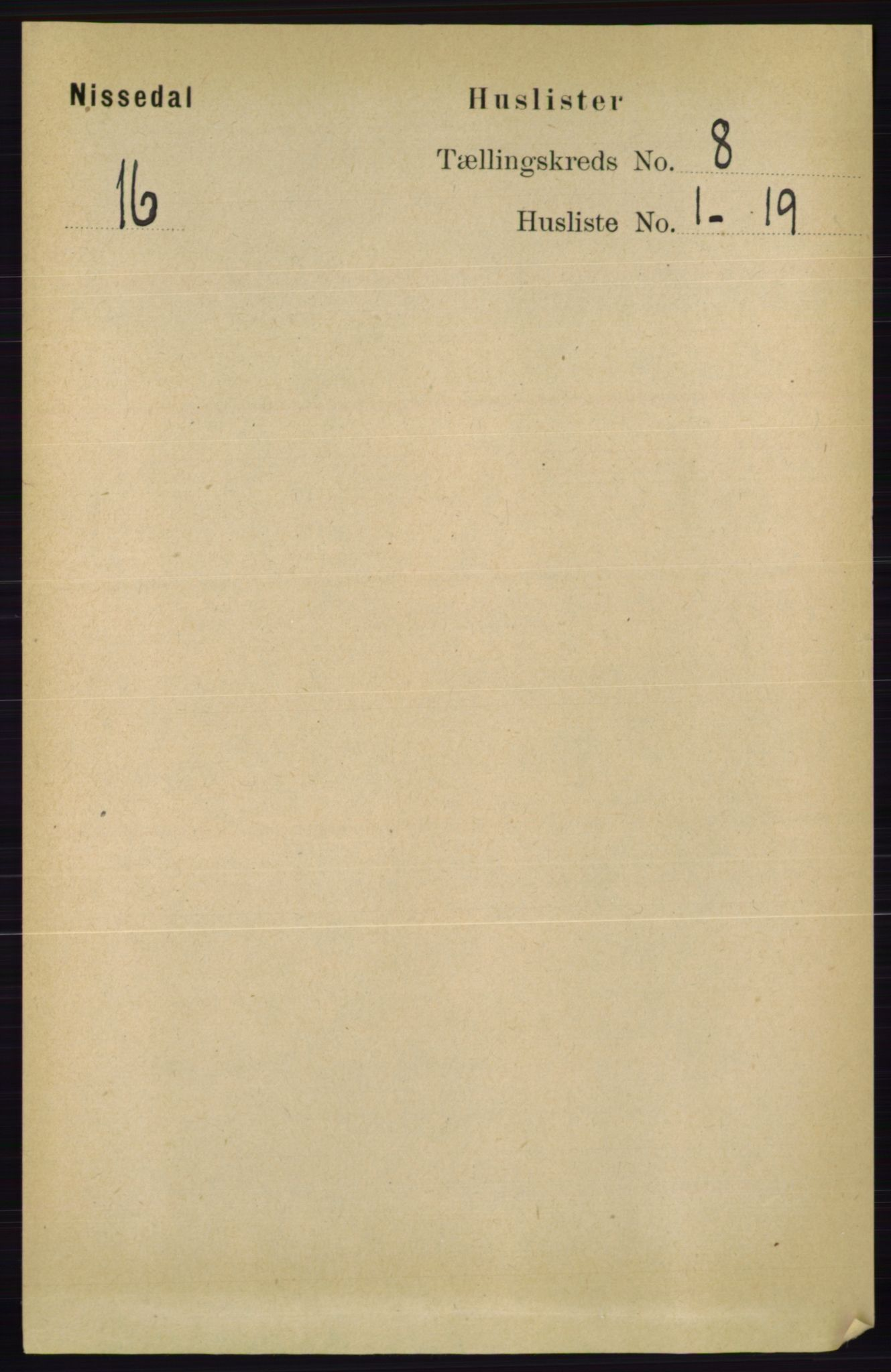 RA, Folketelling 1891 for 0830 Nissedal herred, 1891, s. 1642