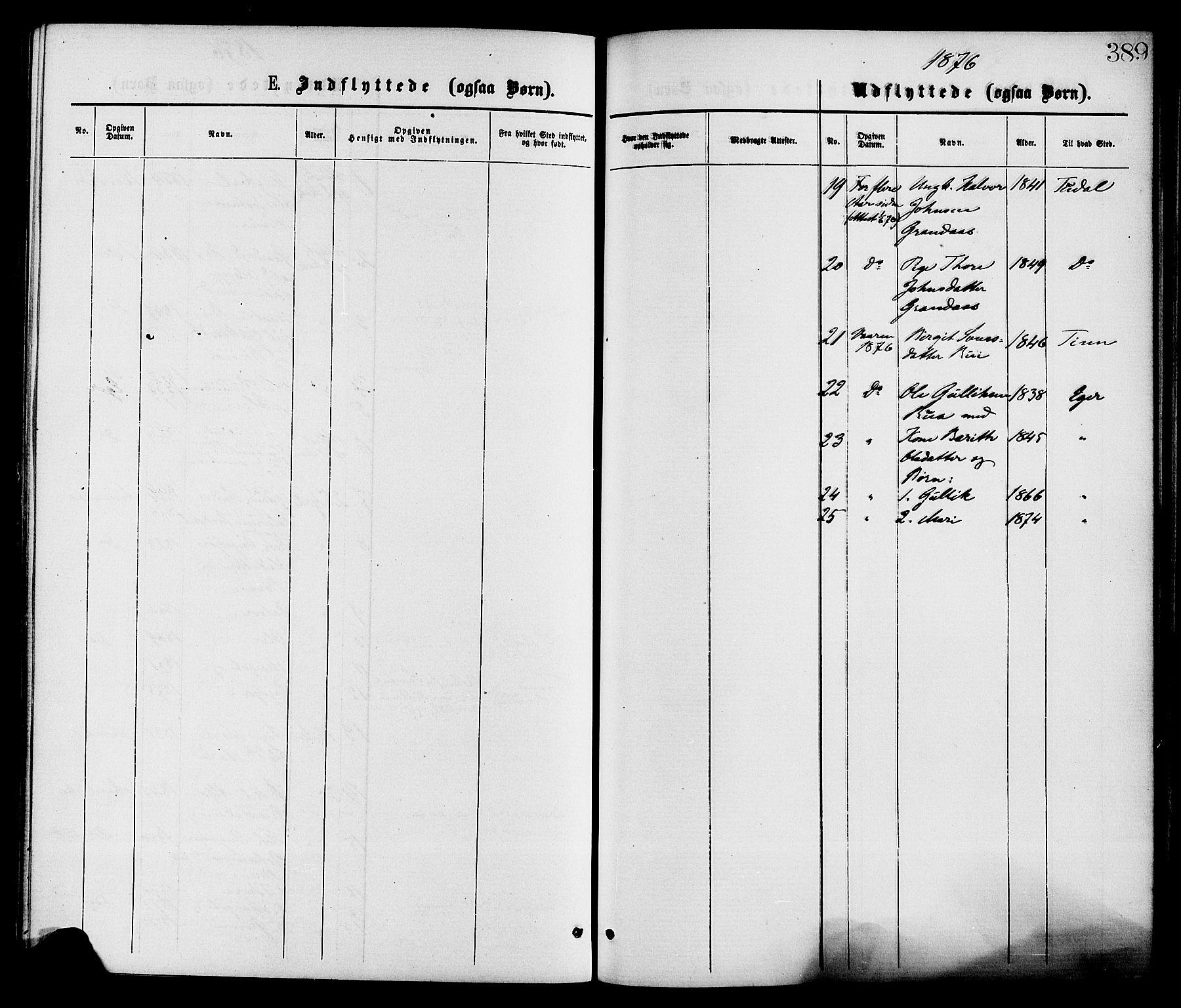 SAKO, Gransherad kirkebøker, F/Fa/L0004: Ministerialbok nr. I 4, 1871-1886, s. 389