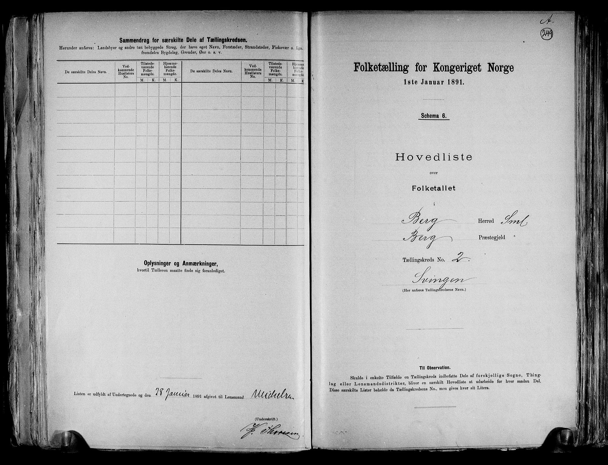RA, Folketelling 1891 for 0116 Berg herred, 1891, s. 9