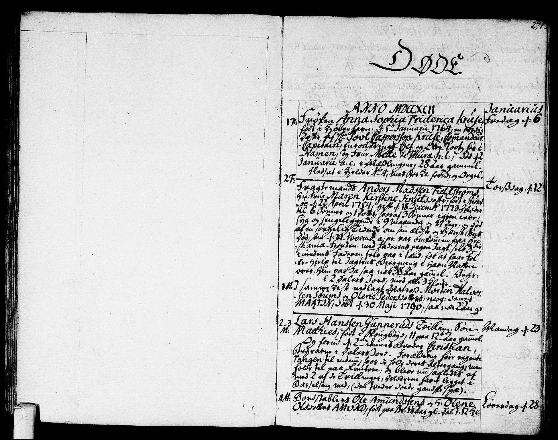 SAKO, Strømsø kirkebøker, F/Fa/L0010: Ministerialbok nr. I 10, 1792-1822, s. 271