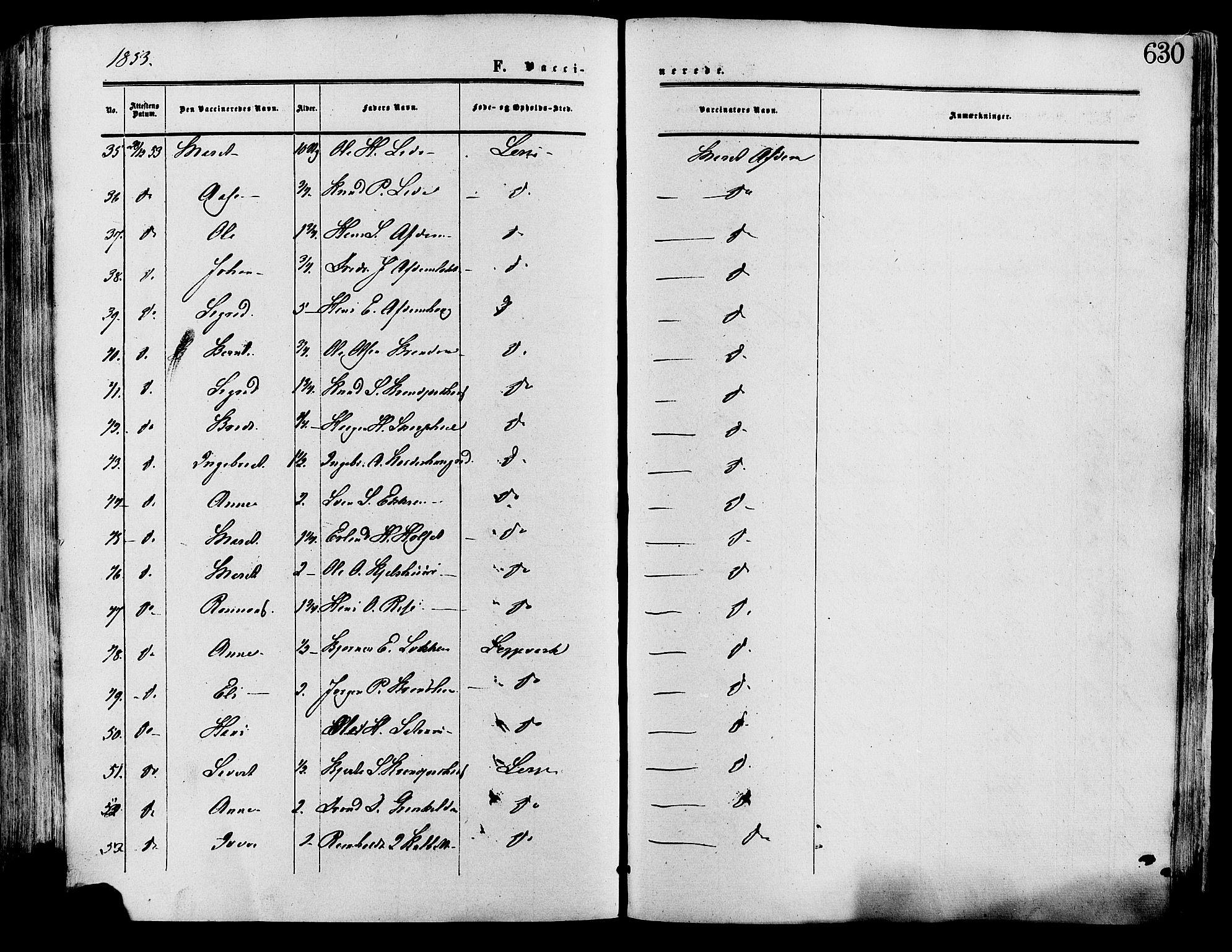 SAH, Lesja prestekontor, Ministerialbok nr. 8, 1854-1880, s. 630