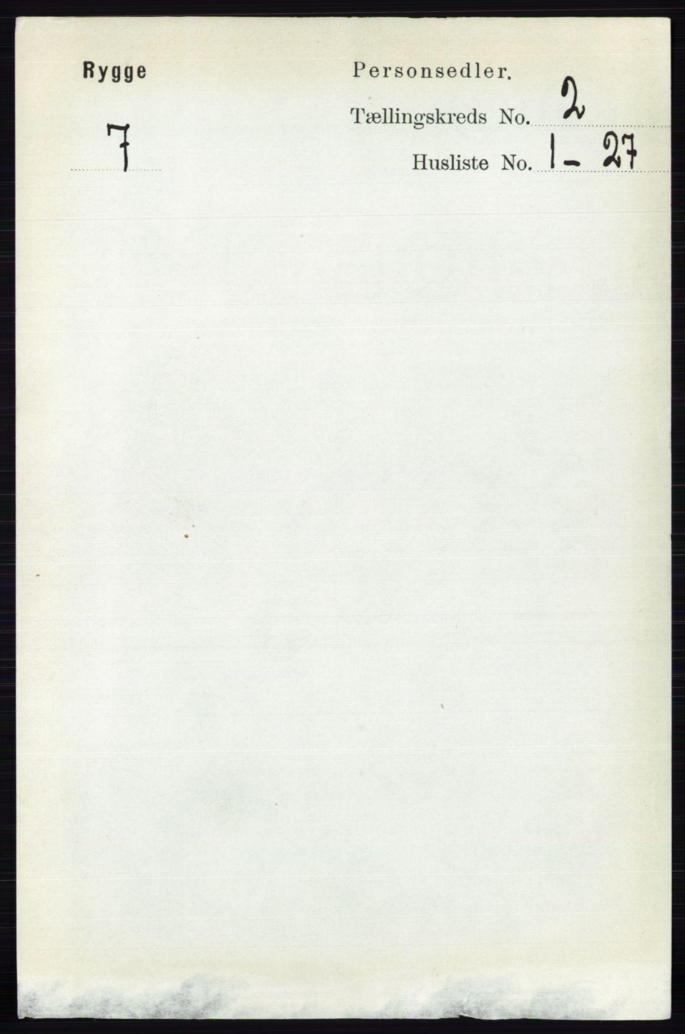 RA, Folketelling 1891 for 0136 Rygge herred, 1891, s. 1009