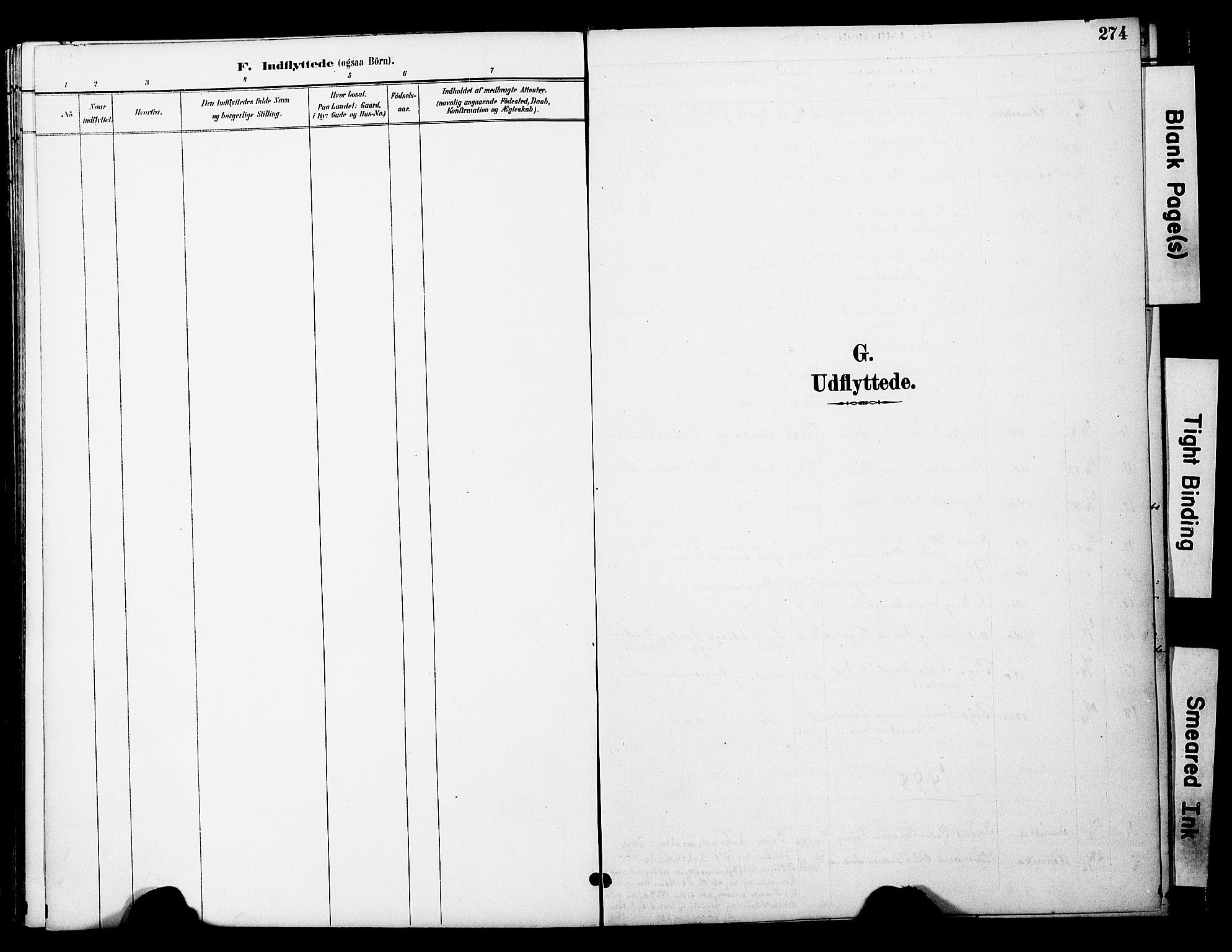SAT, Ministerialprotokoller, klokkerbøker og fødselsregistre - Nord-Trøndelag, 774/L0628: Ministerialbok nr. 774A02, 1887-1903, s. 274