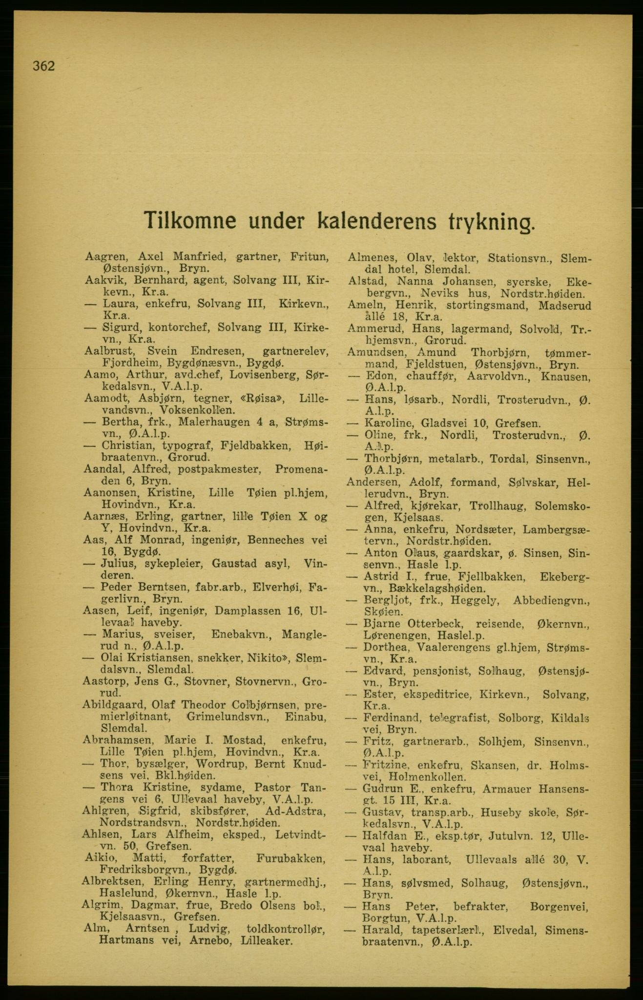 PUBL, Aker adressebok/adressekalender, 1924-1925, s. 362