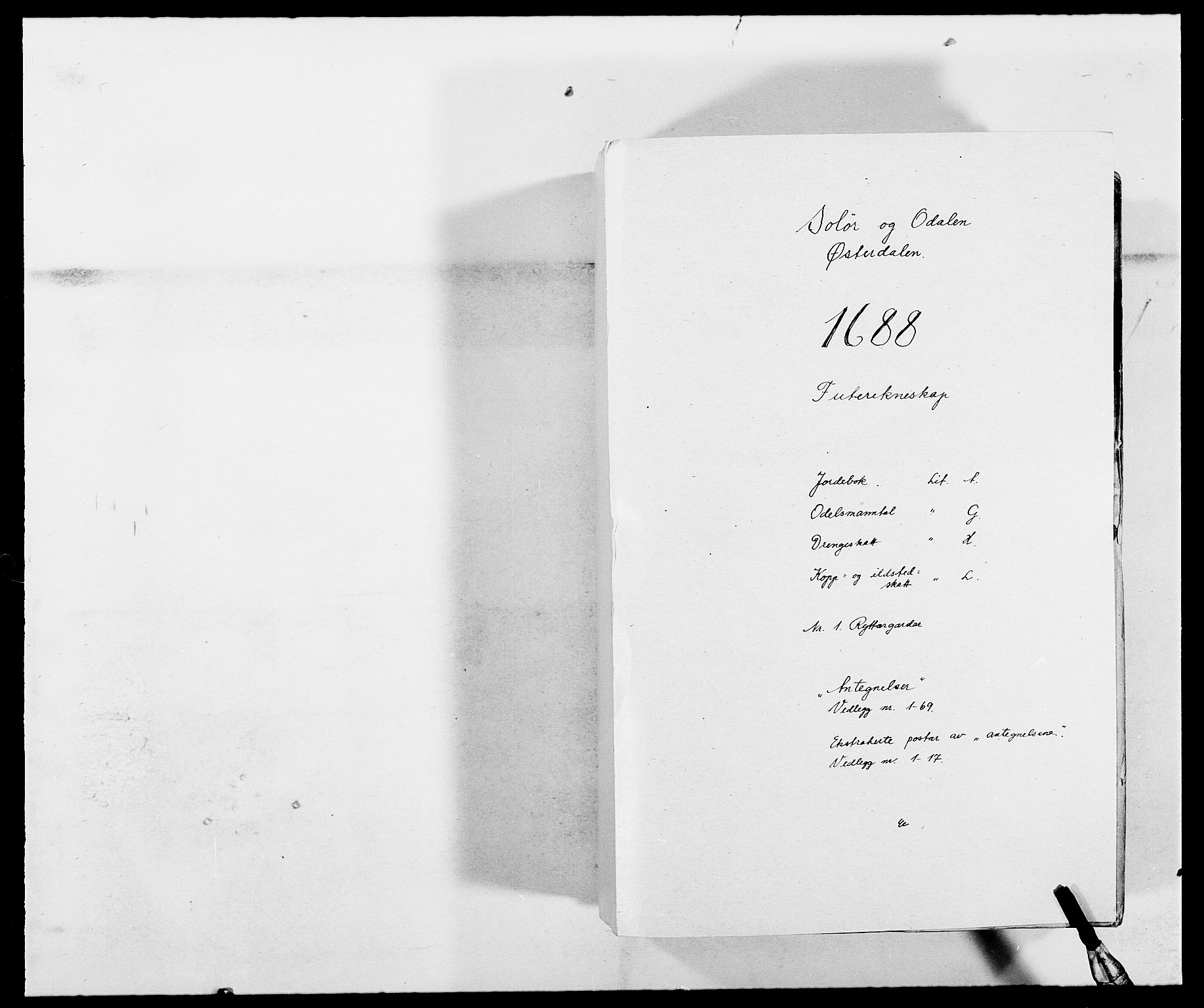 RA, Rentekammeret inntil 1814, Reviderte regnskaper, Fogderegnskap, R13/L0825: Fogderegnskap Solør, Odal og Østerdal, 1688, s. 1