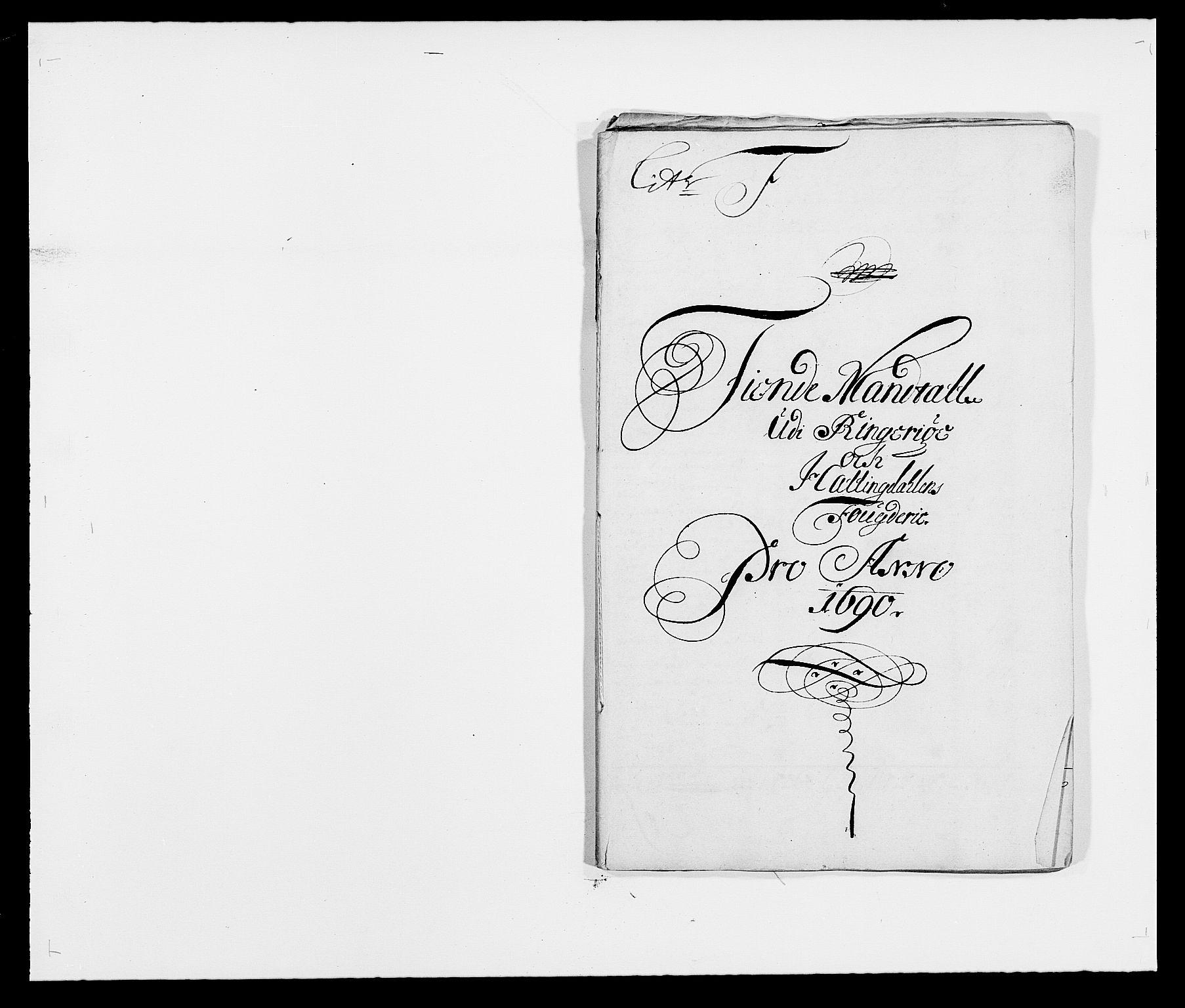 RA, Rentekammeret inntil 1814, Reviderte regnskaper, Fogderegnskap, R21/L1448: Fogderegnskap Ringerike og Hallingdal, 1690-1692, s. 61