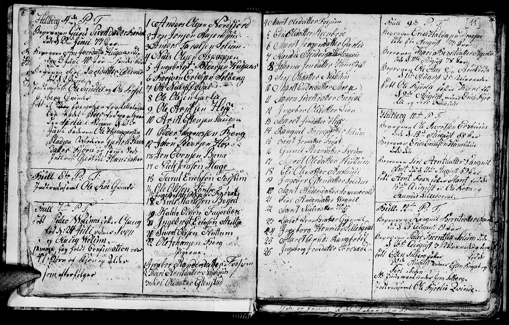 SAT, Ministerialprotokoller, klokkerbøker og fødselsregistre - Sør-Trøndelag, 689/L1042: Klokkerbok nr. 689C01, 1812-1841, s. 10-11
