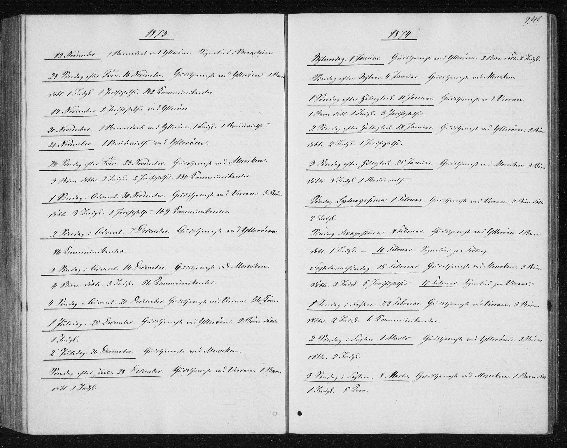 SAT, Ministerialprotokoller, klokkerbøker og fødselsregistre - Nord-Trøndelag, 722/L0219: Ministerialbok nr. 722A06, 1868-1880, s. 246