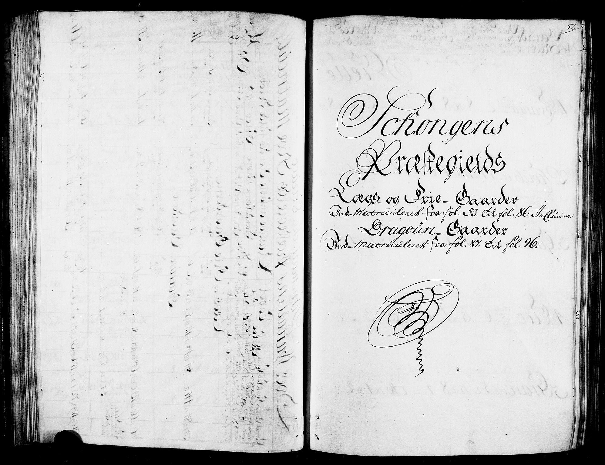RA, Rentekammeret inntil 1814, Realistisk ordnet avdeling, N/Nb/Nbf/L0165: Stjørdal og Verdal matrikkelprotokoll, 1723, s. 51b-52a