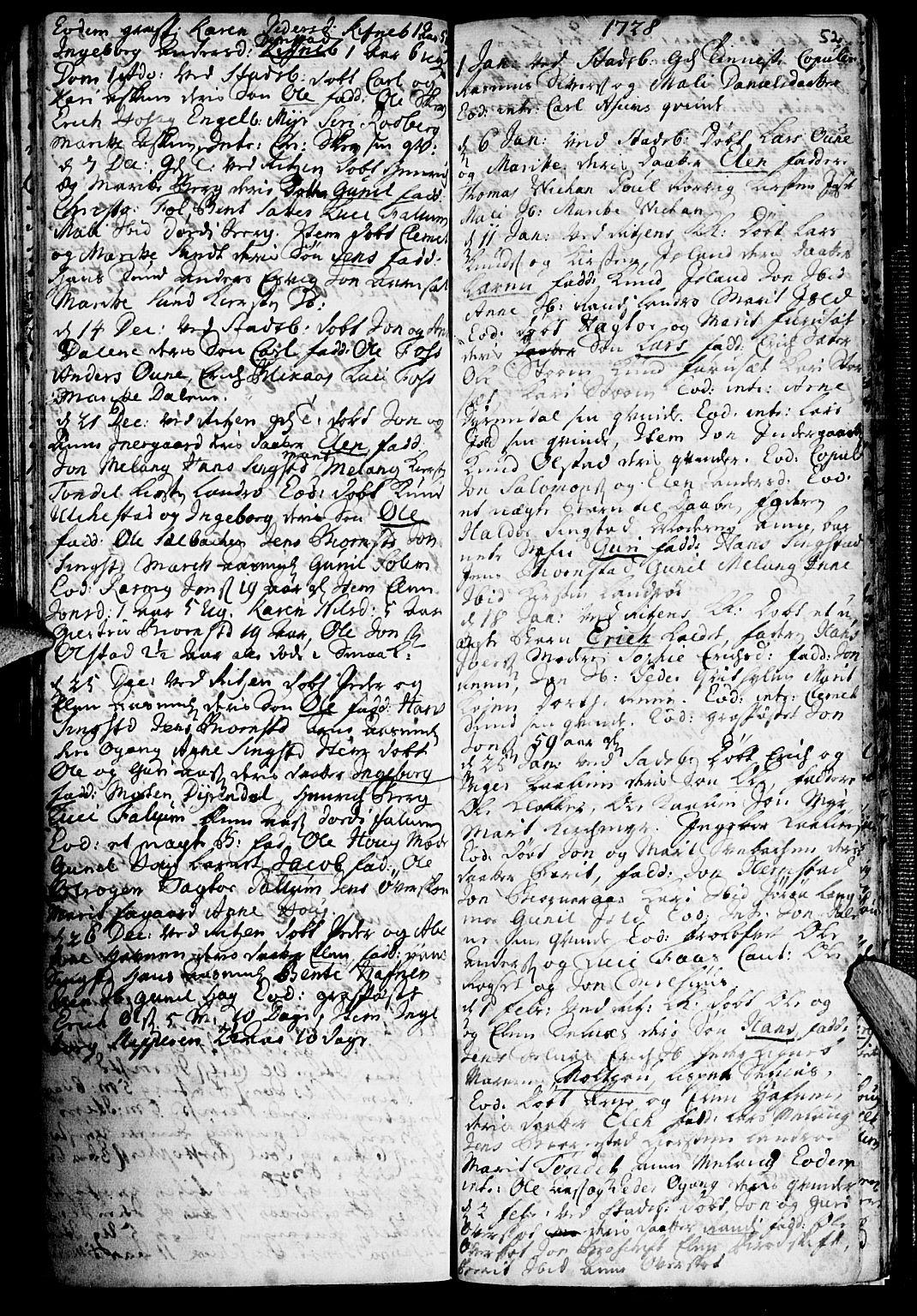 SAT, Ministerialprotokoller, klokkerbøker og fødselsregistre - Sør-Trøndelag, 646/L0603: Ministerialbok nr. 646A01, 1700-1734, s. 52