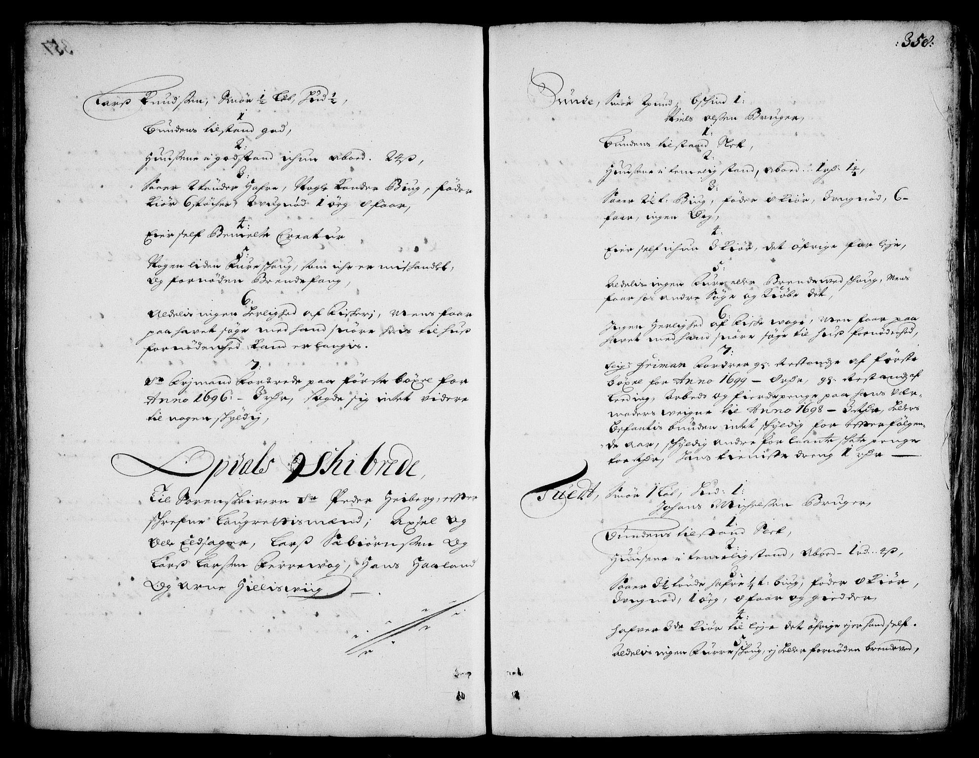 RA, Rentekammeret inntil 1814, Realistisk ordnet avdeling, On/L0002: [Jj 3]: Besiktigelsesforretninger over Halsnøy klosters gods, 1659-1703, s. 357b-358a