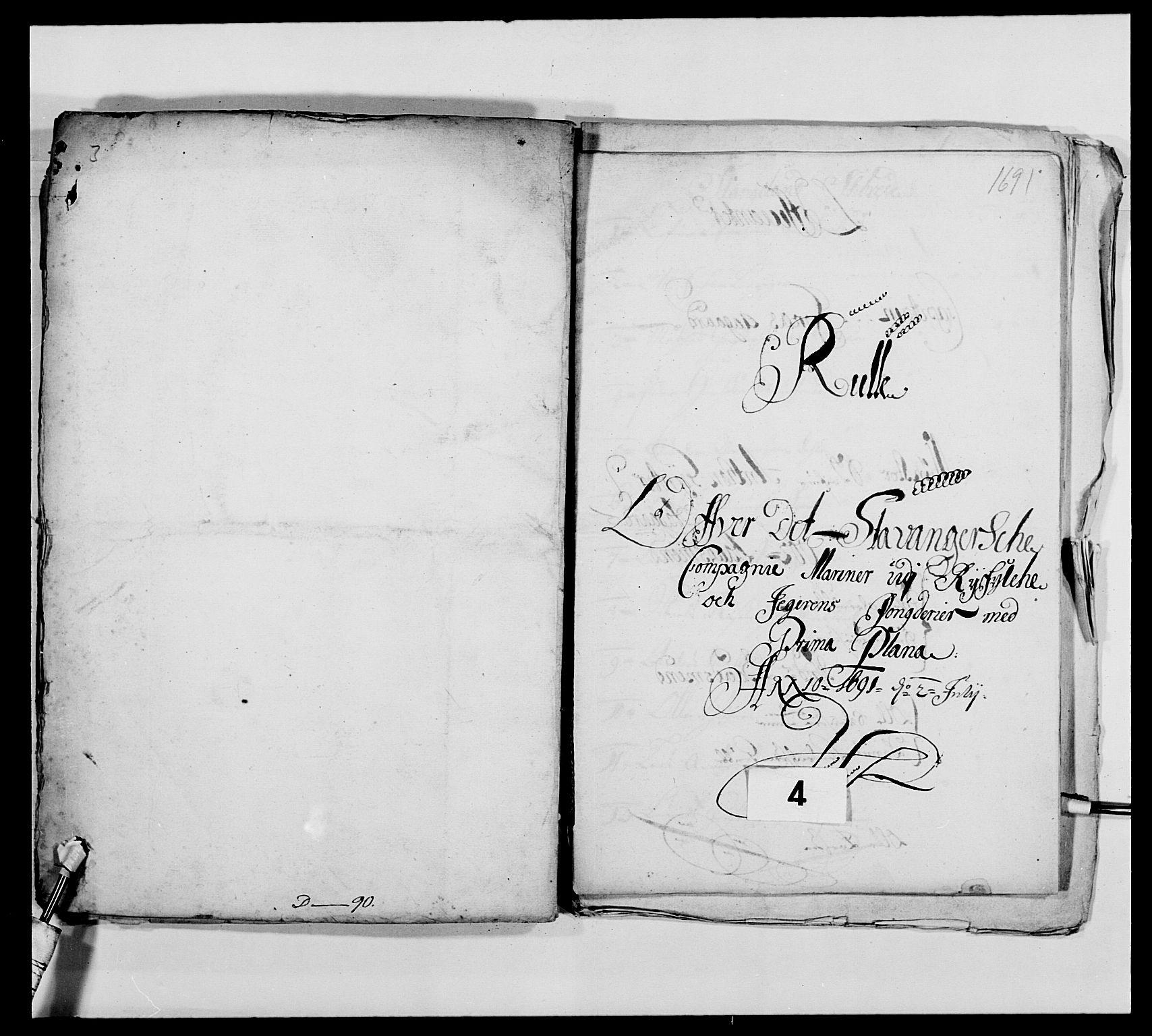 RA, Kommanderende general (KG I) med Det norske krigsdirektorium, E/Ea/L0473: Marineregimentet, 1664-1700, s. 134