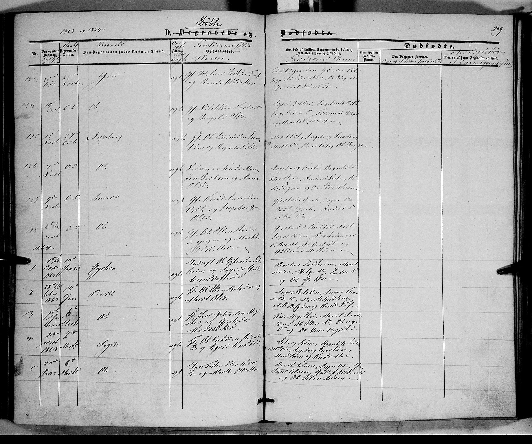 SAH, Vestre Slidre prestekontor, Ministerialbok nr. 2, 1856-1864, s. 209