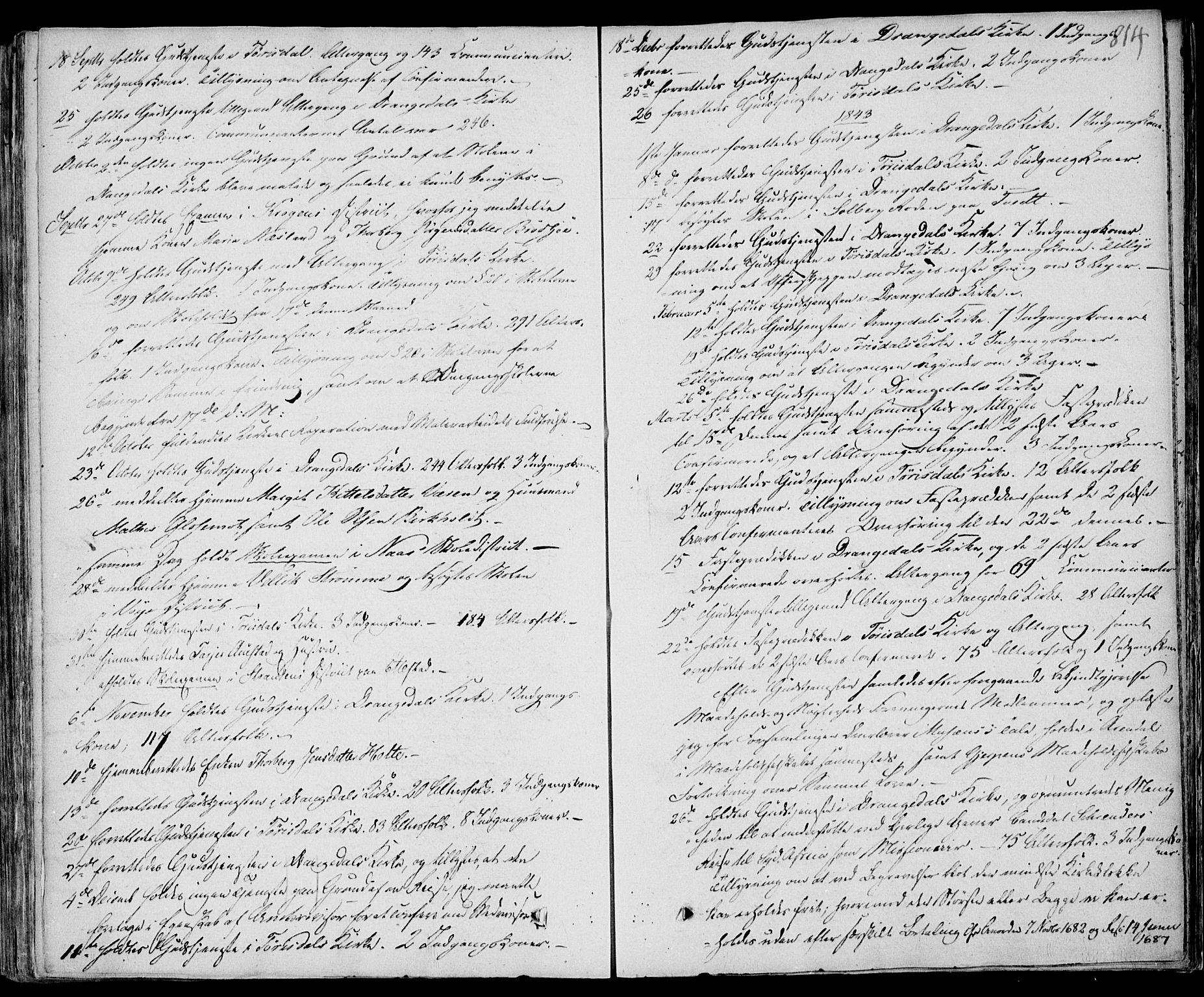 SAKO, Drangedal kirkebøker, F/Fa/L0007b: Ministerialbok nr. 7b, 1837-1856, s. 814