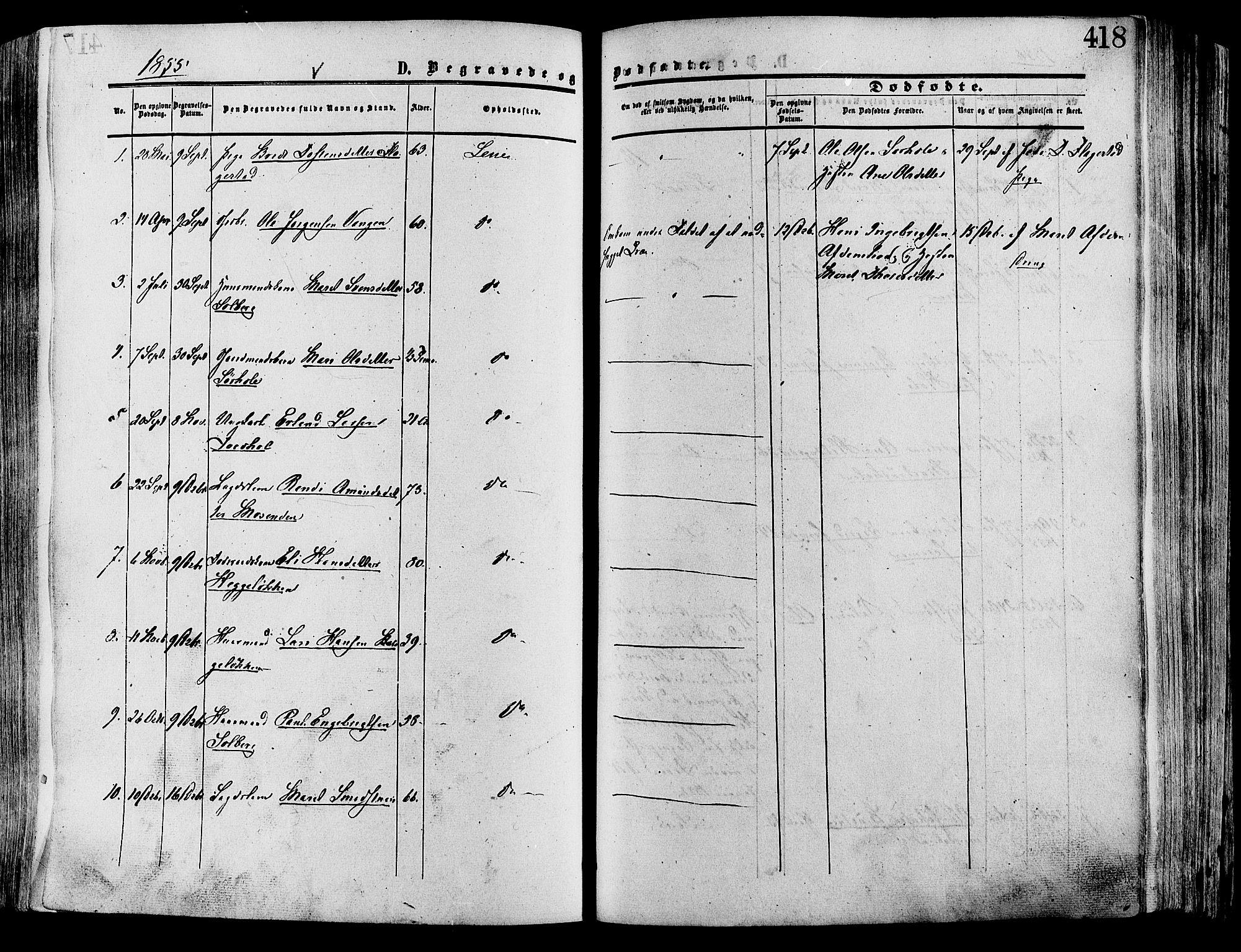 SAH, Lesja prestekontor, Ministerialbok nr. 8, 1854-1880, s. 418