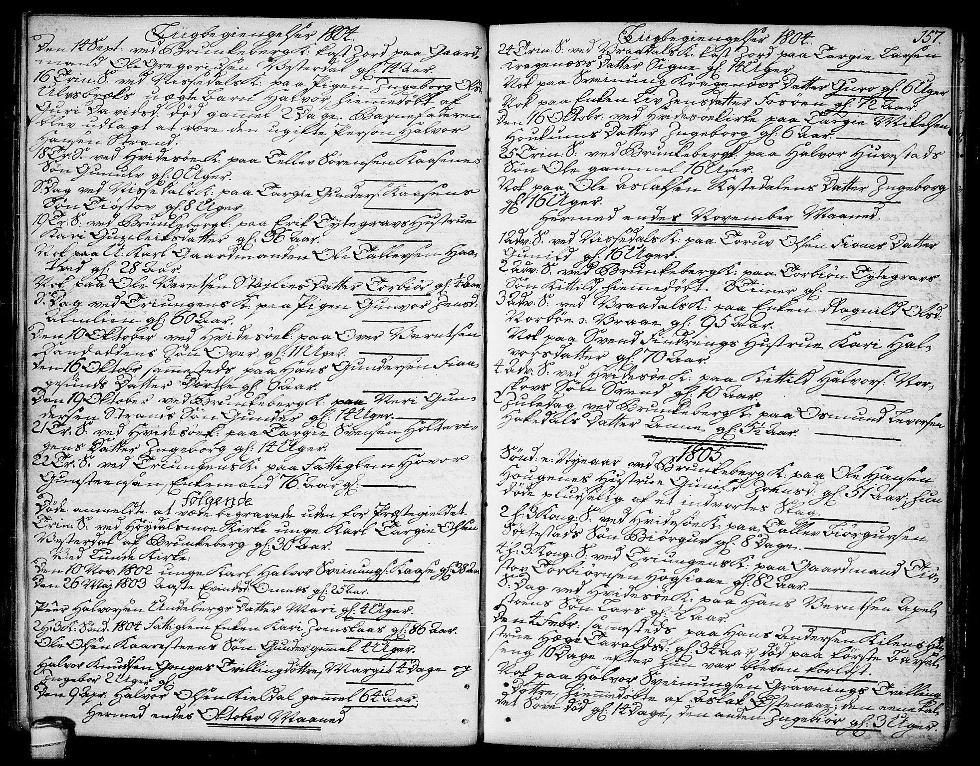 SAKO, Kviteseid kirkebøker, F/Fa/L0004: Ministerialbok nr. I 4, 1800-1814, s. 157