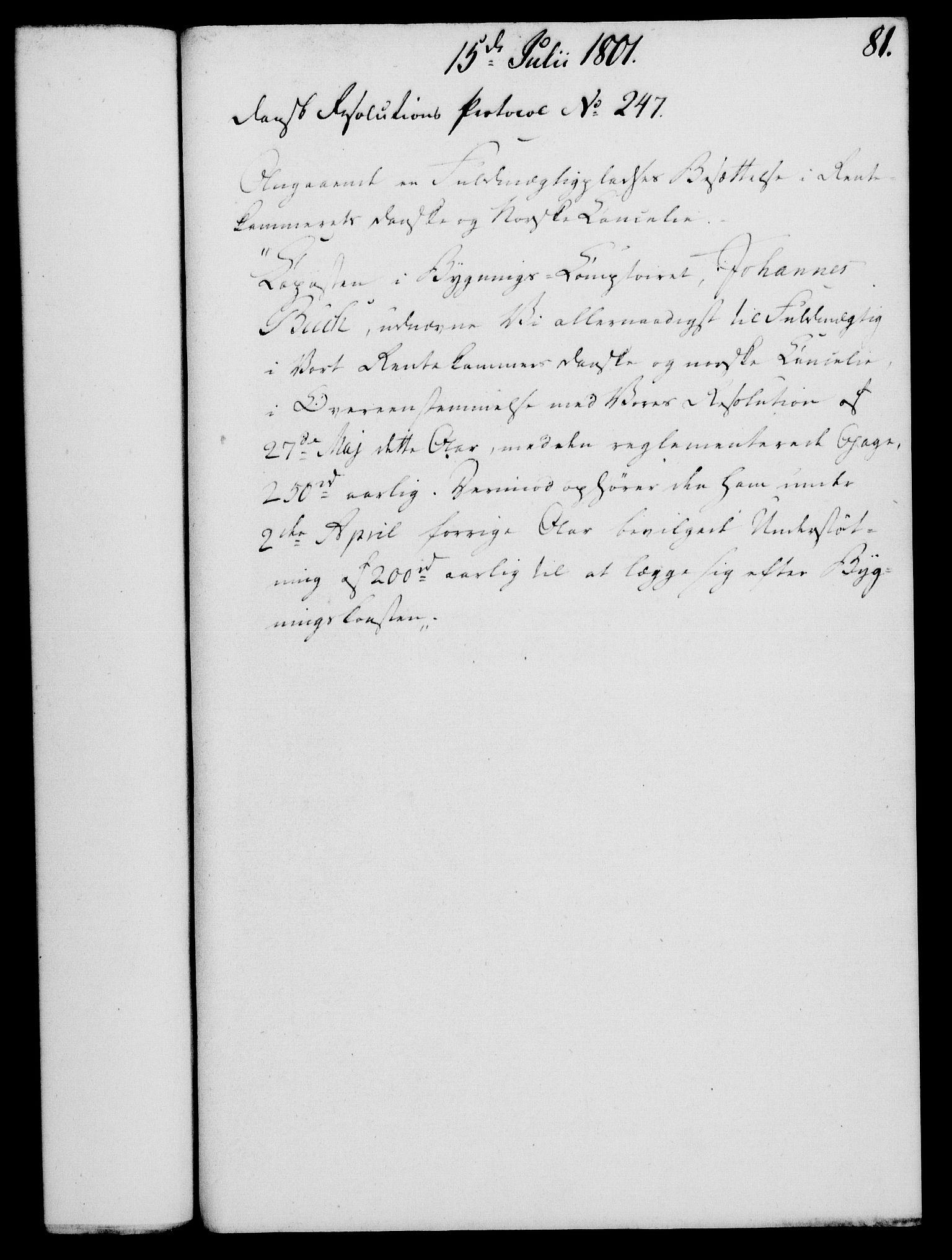 RA, Rentekammeret, Kammerkanselliet, G/Gf/Gfa/L0083: Norsk relasjons- og resolusjonsprotokoll (merket RK 52.83), 1801, s. 479