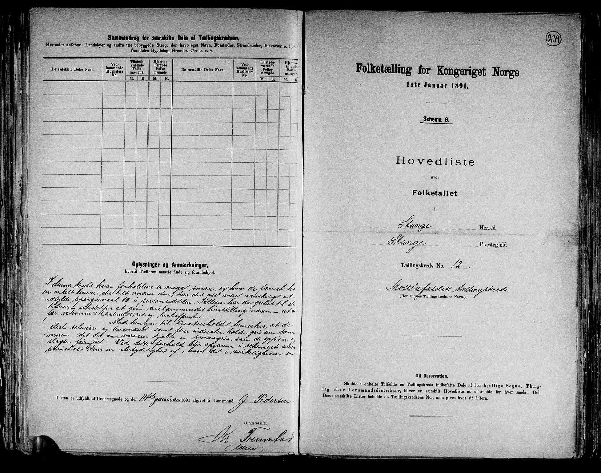 RA, Folketelling 1891 for 0417 Stange herred, 1891, s. 40