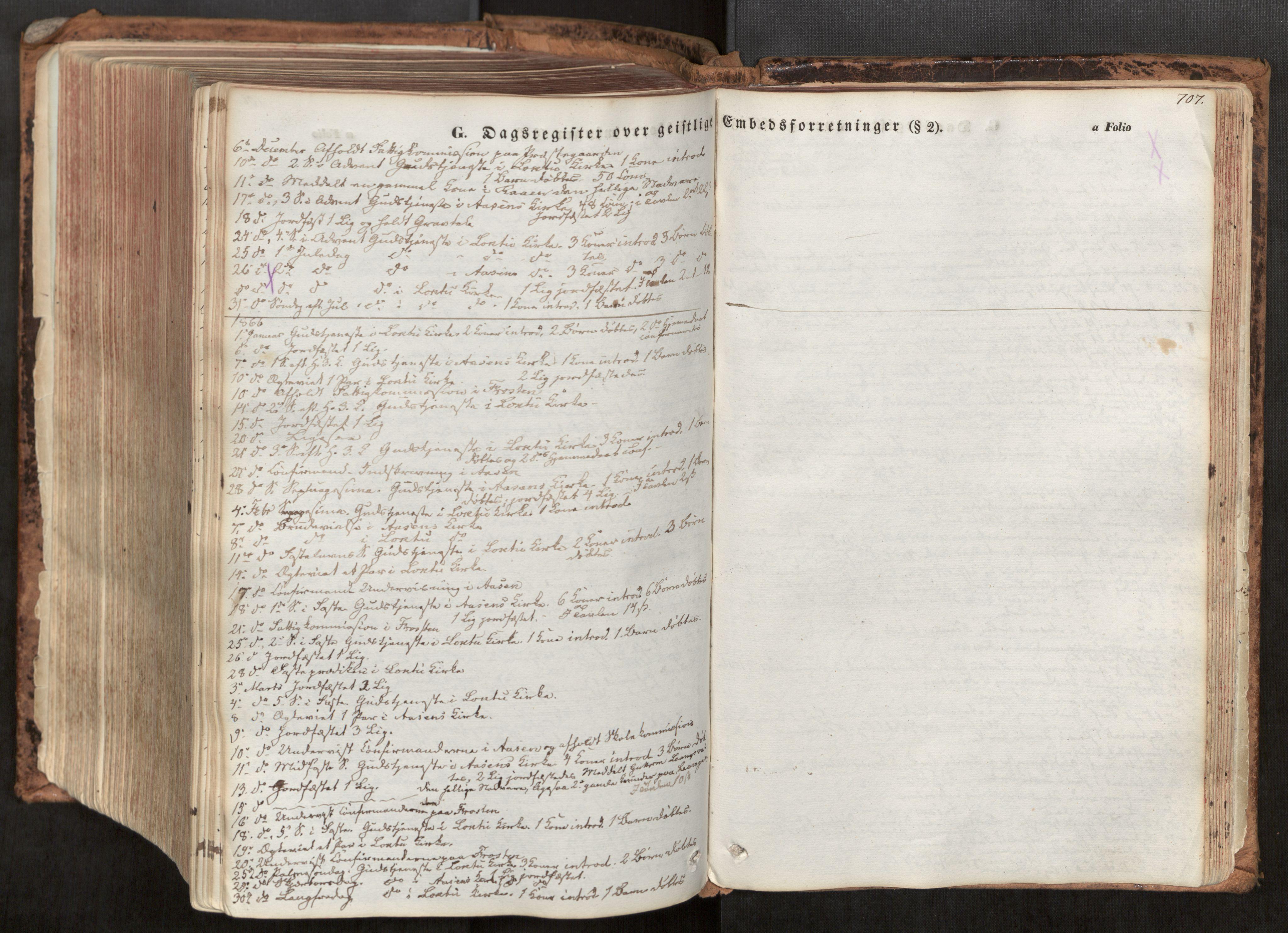 SAT, Ministerialprotokoller, klokkerbøker og fødselsregistre - Nord-Trøndelag, 713/L0116: Ministerialbok nr. 713A07, 1850-1877, s. 707